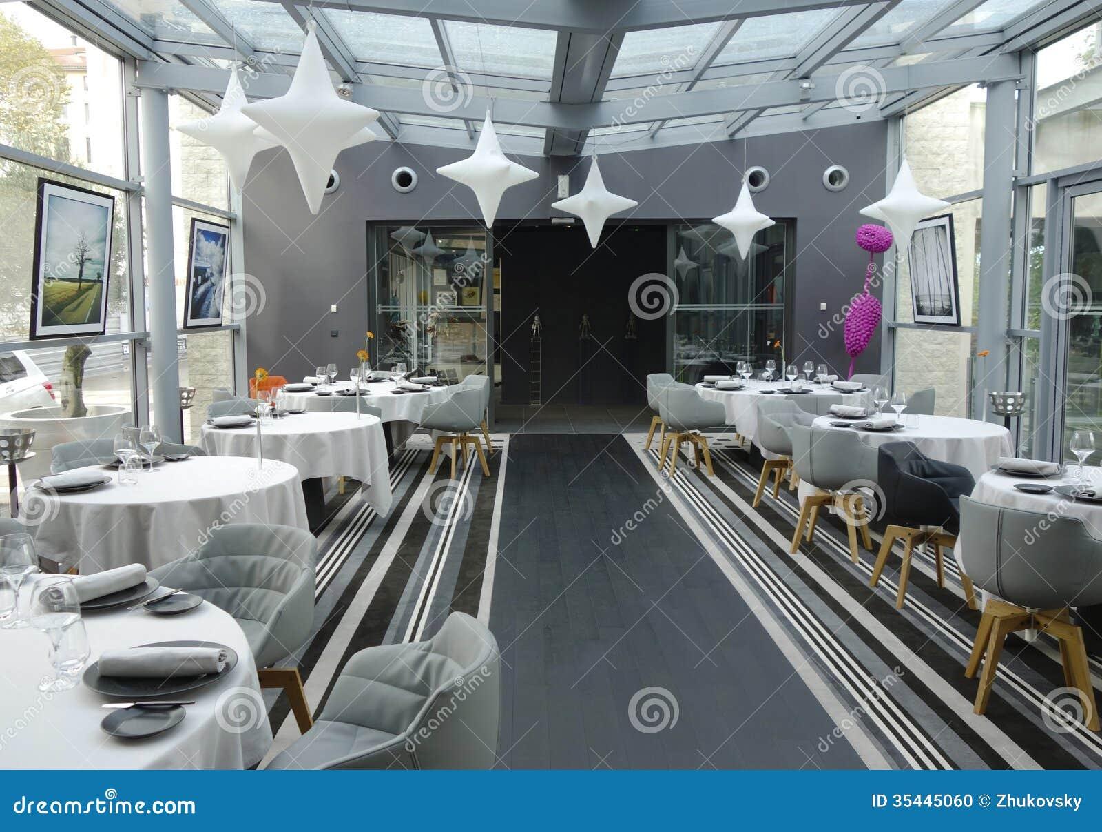 Tetedoie restaurant modern internal decoration in lyon