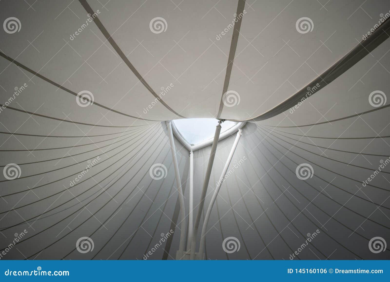 Teto de uma estrutura moderna