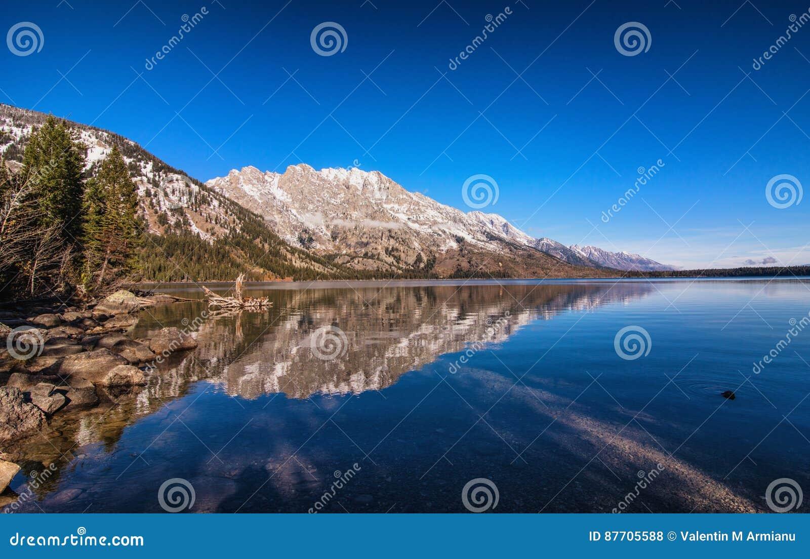 Tetons grand de lac de bourrique