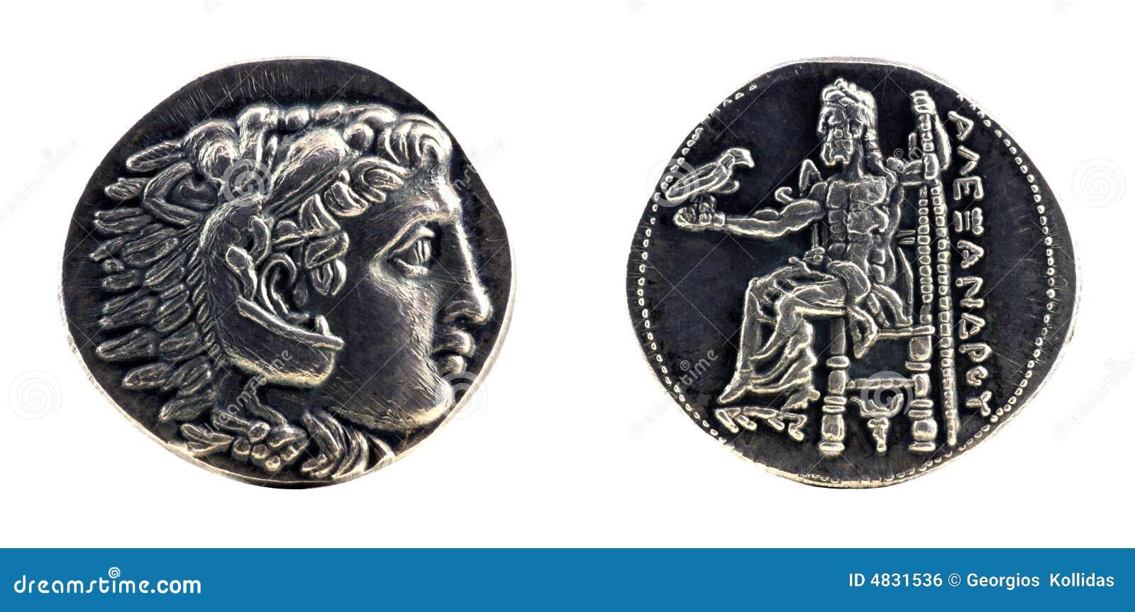Tetradrachm de plata griego de Alexander el grande
