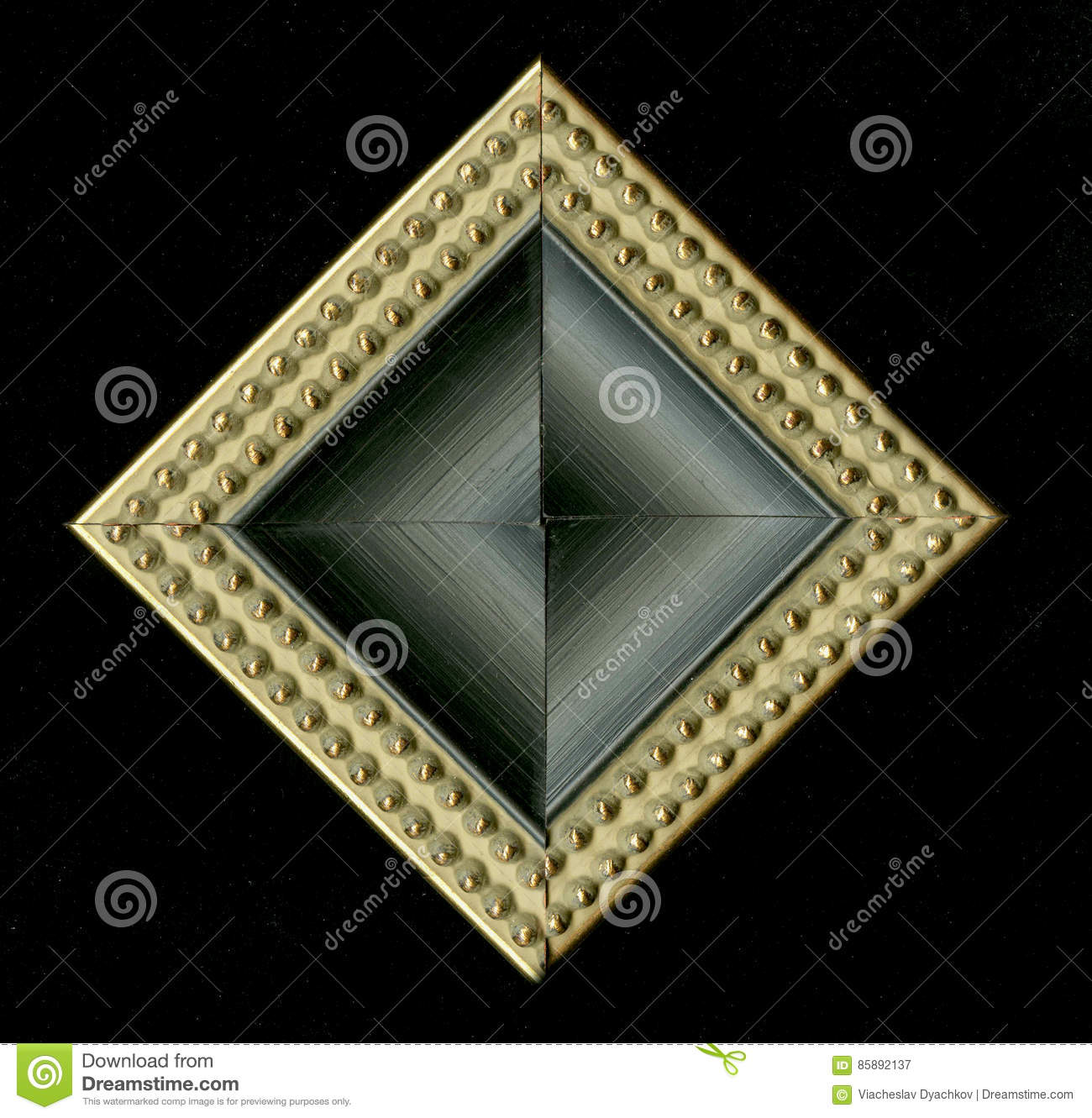 tetrahedral square decorative rosette of wooden framing strips royalty free stock photography. Black Bedroom Furniture Sets. Home Design Ideas