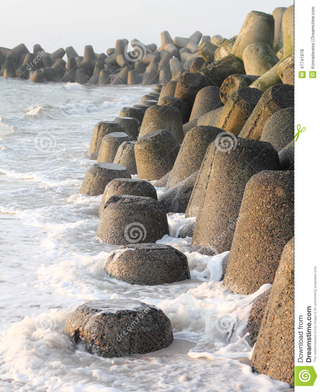 Download Tetrapods Made Of Concrete Protect The Coast Of Sylt Stock Photo - Image of protect, coastline: 47741978
