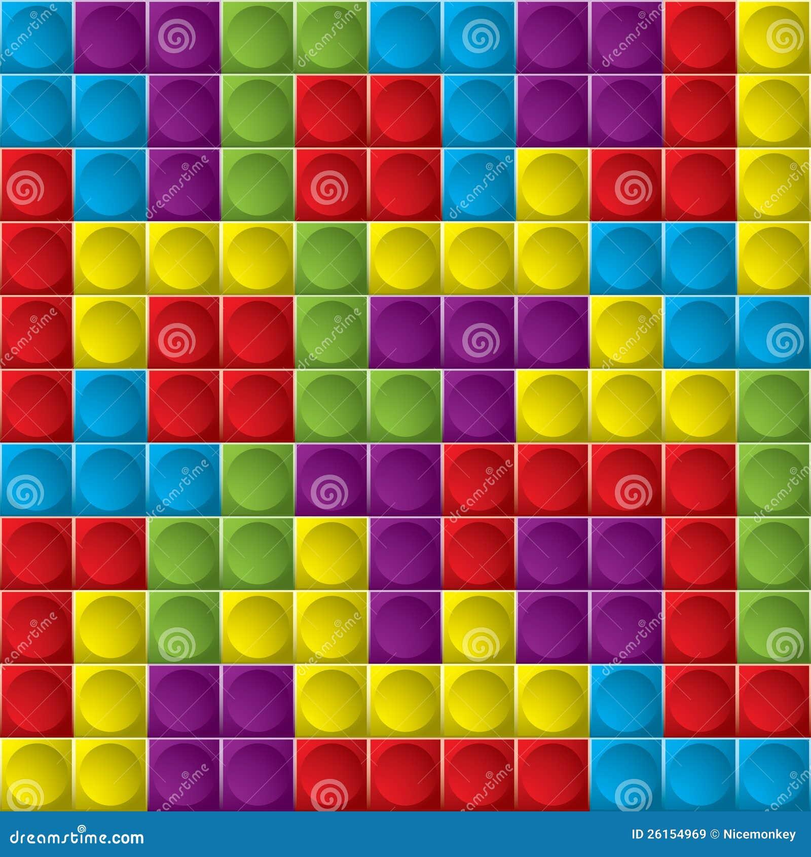 Tetris board background stock illustration  Illustration of mosaic