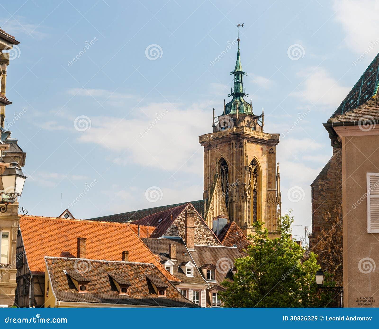 Tetti della città di Colmar, l Alsazia, Francia