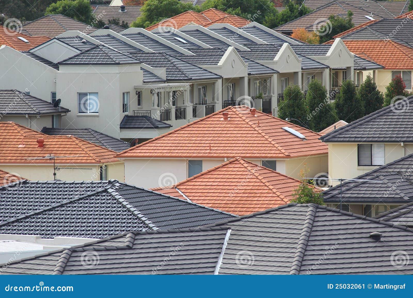 tetti delle case moderne immagine stock immagine 25032061