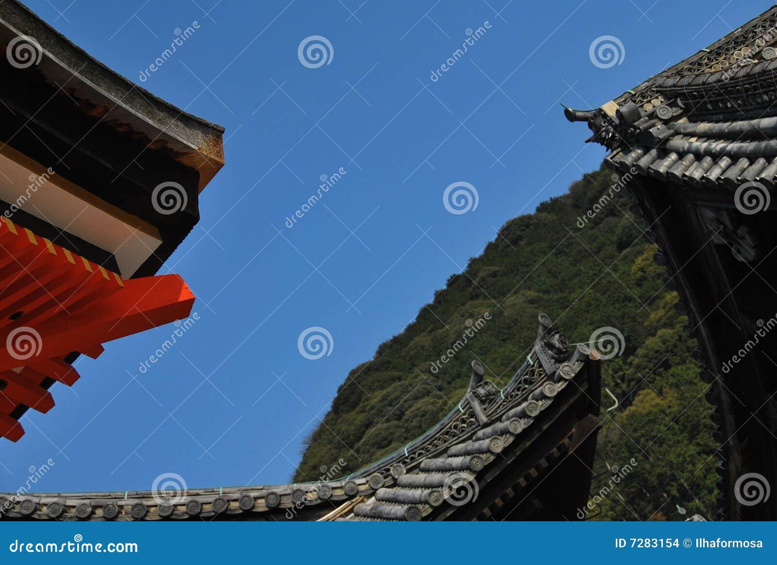 tetti giapponesi fotografia stock immagine di