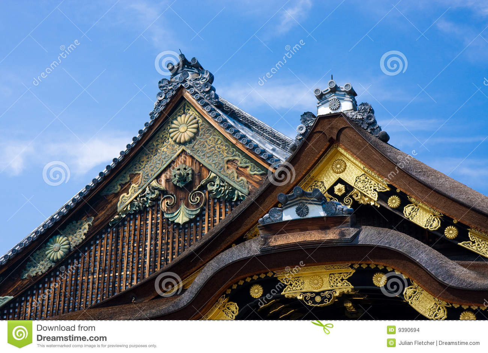 tetti giapponesi del tempiale fotografia stock immagine