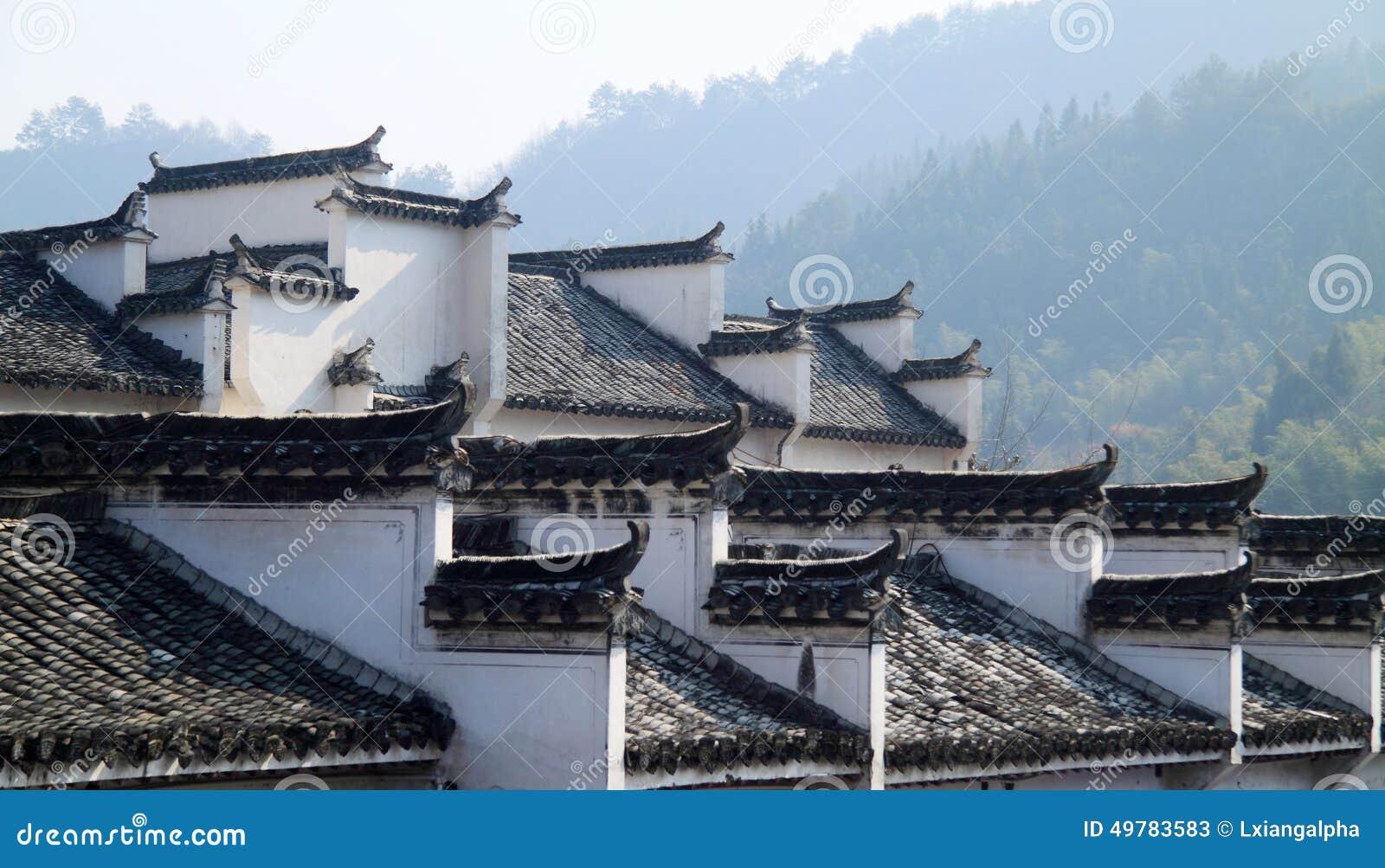 Tetto delle case di abitazione locali cinesi di stile for Case in stile nord ovest pacifico