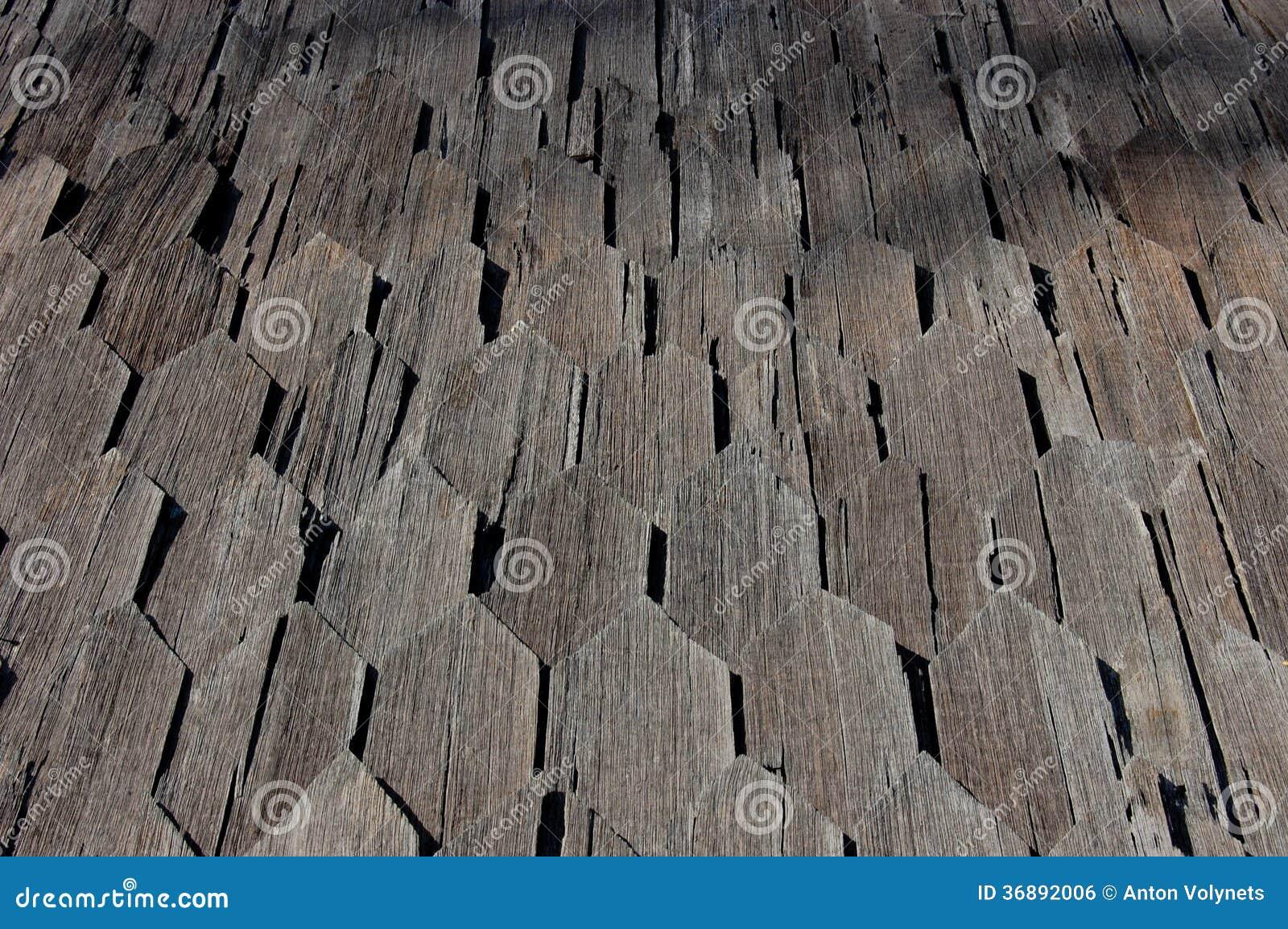 Download Tetto di legno fotografia stock. Immagine di mosaico - 36892006