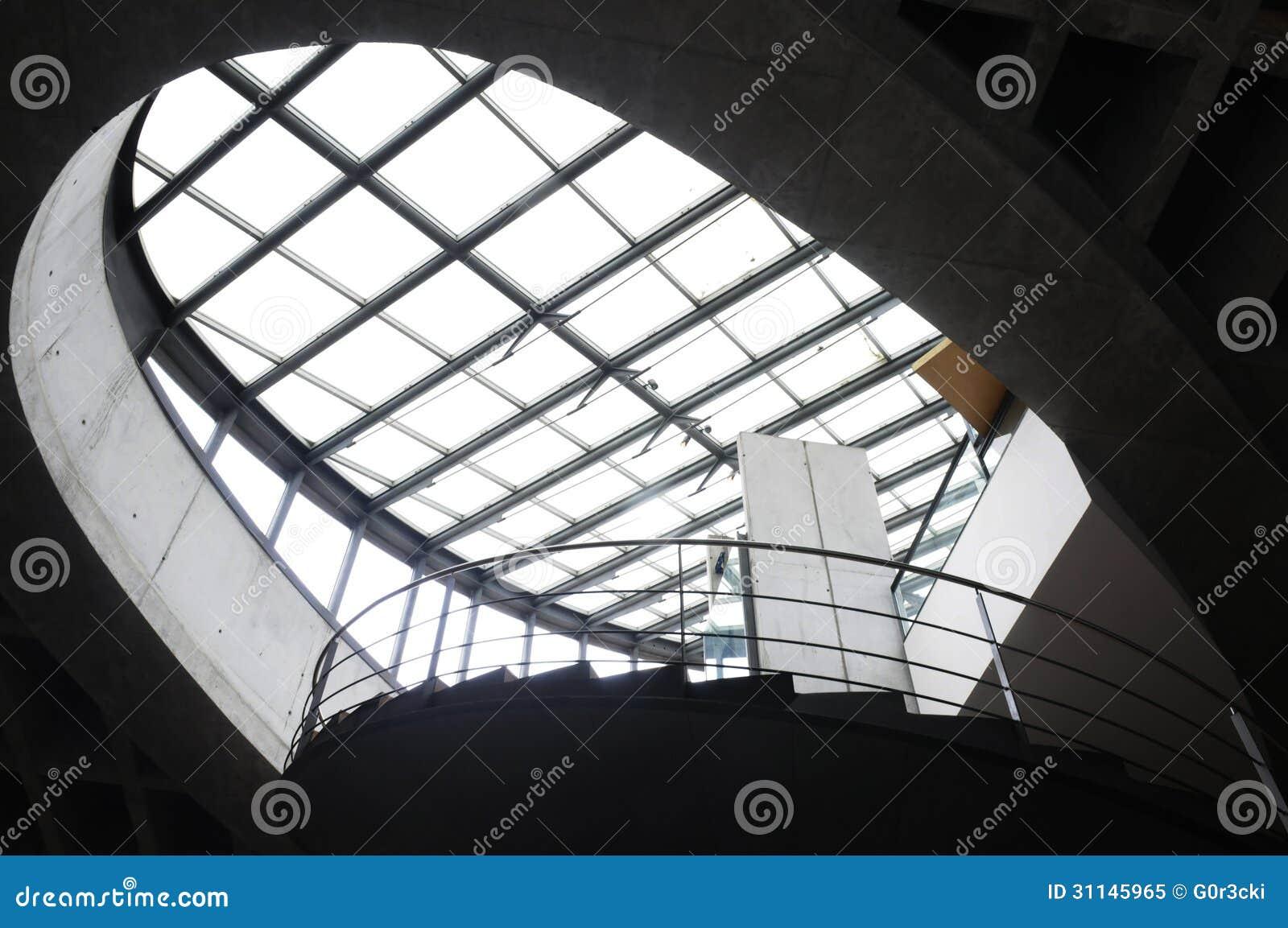 Tetto di vetro e struttura d 39 acciaio immagine stock for Tetto in vetro prezzi