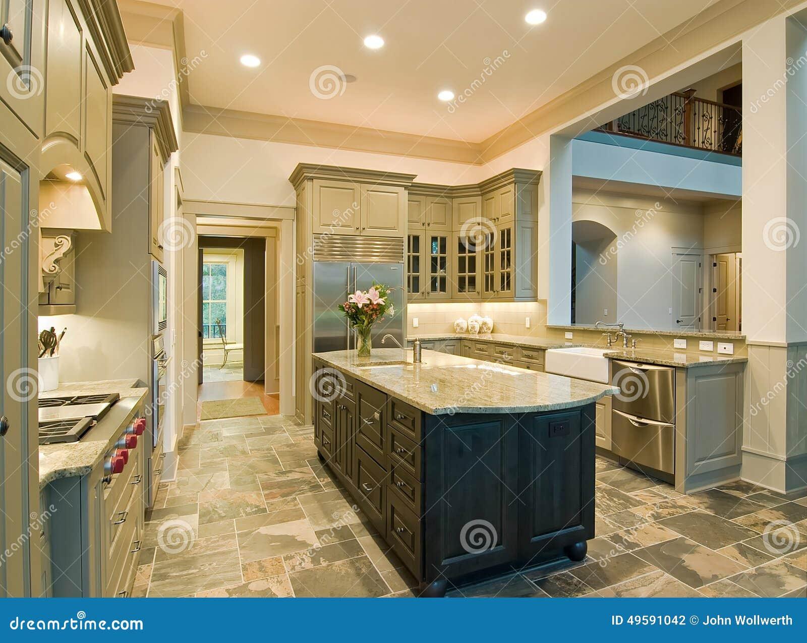 Teure Küche stockfoto. Bild von haupt, architektur, sauber - 49591042