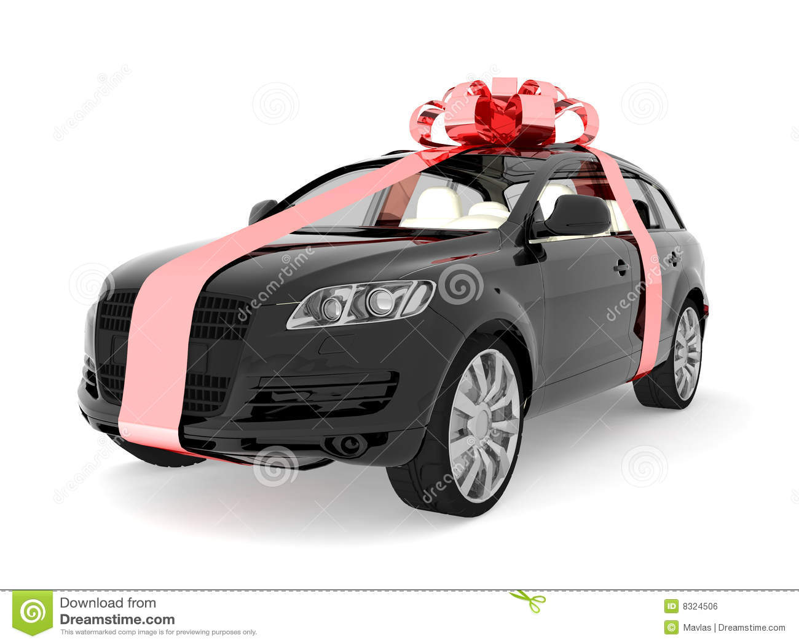 teures auto f r verkauf oder geschenk lizenzfreies stockbild bild 8324506. Black Bedroom Furniture Sets. Home Design Ideas
