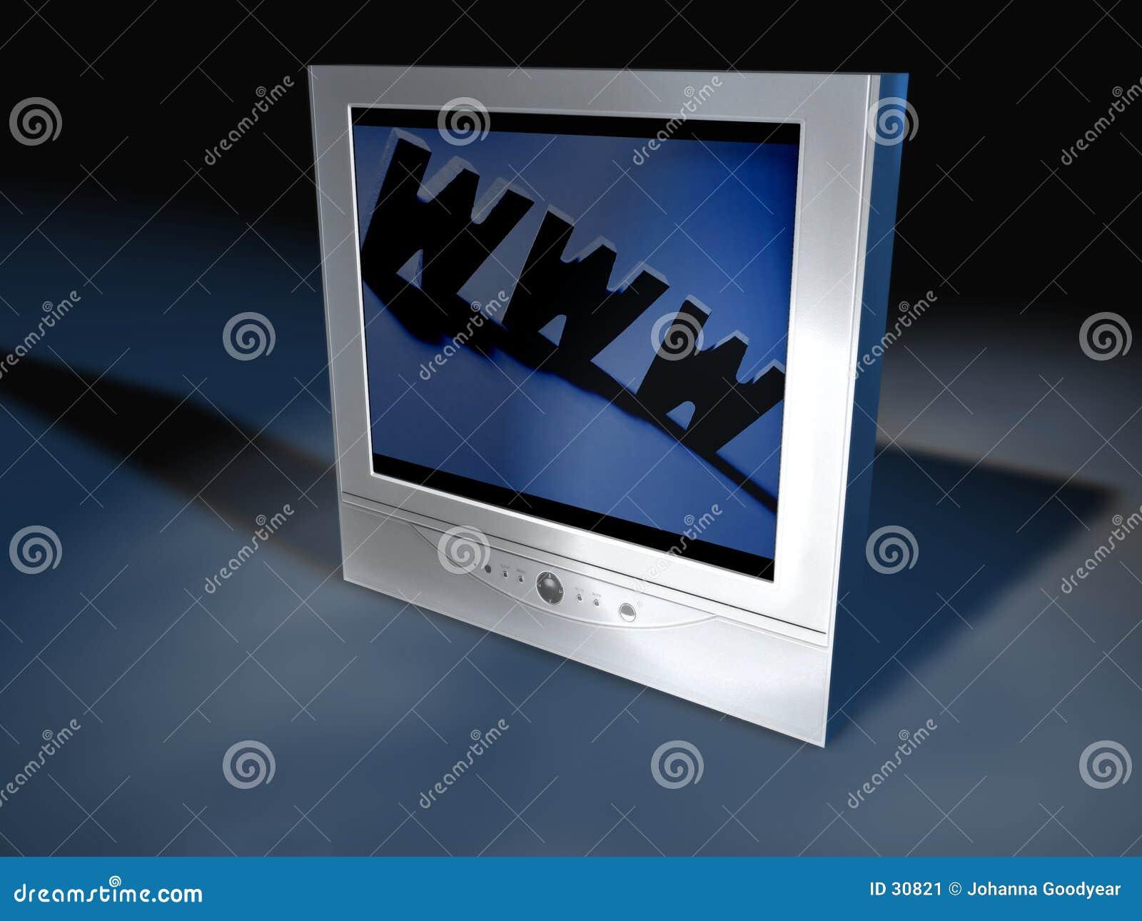 Tevê 4 do écran plano