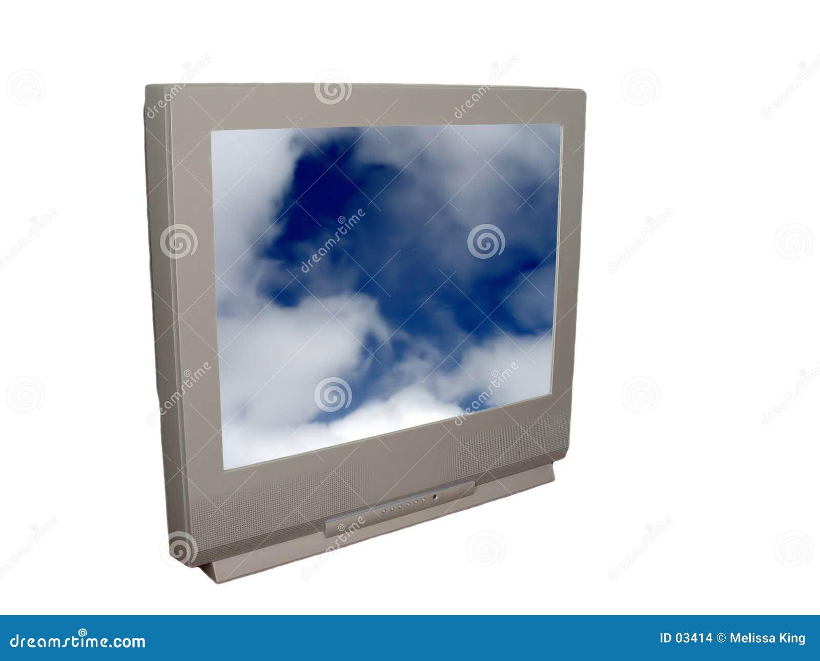 Tevê com nuvens