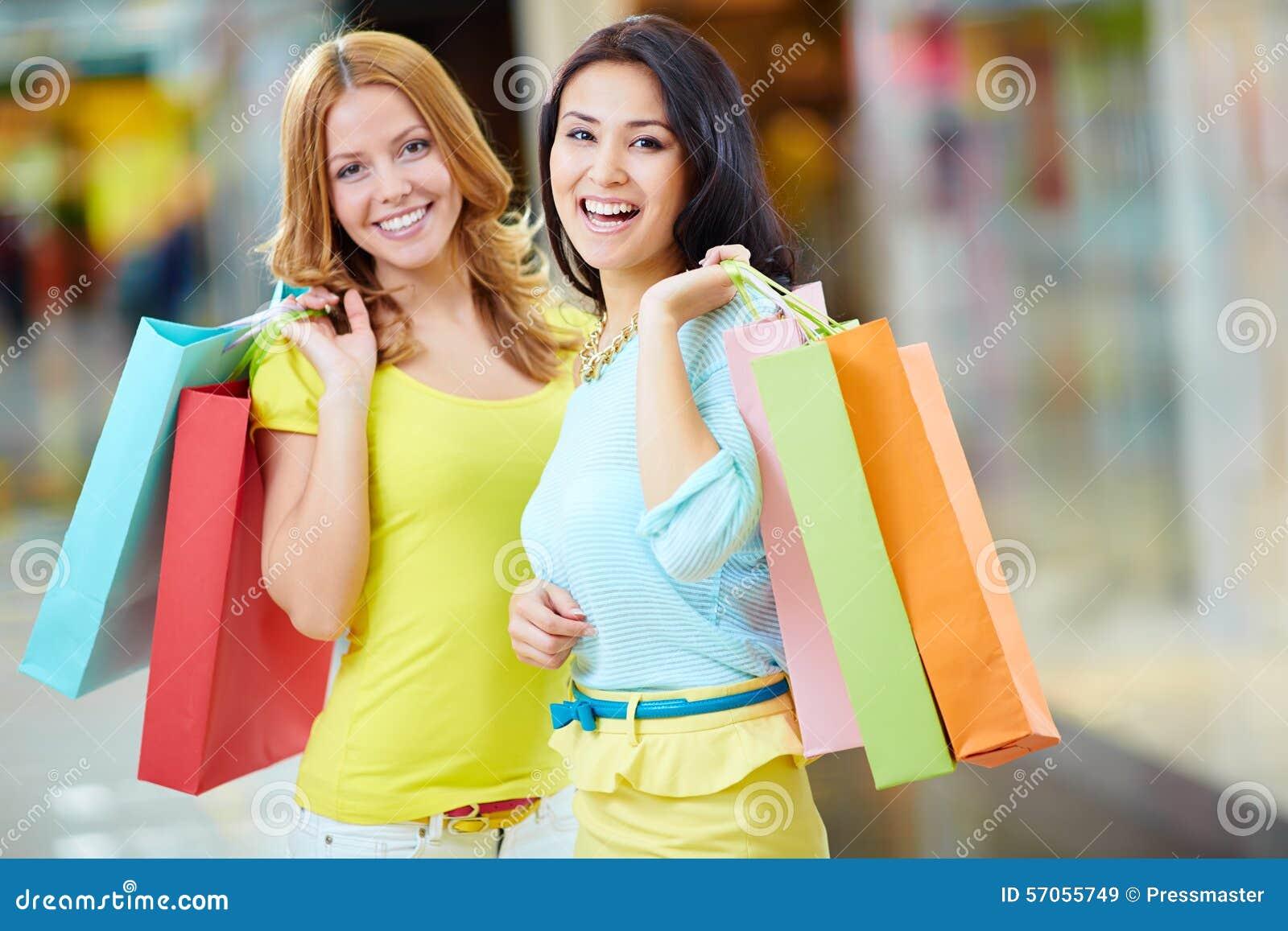 Tevreden met het winkelen