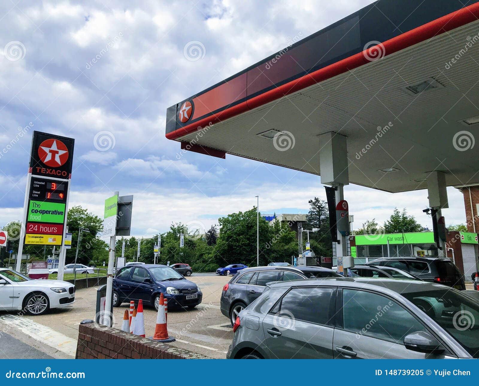 Texaco petrol station editorial image  Image of motor