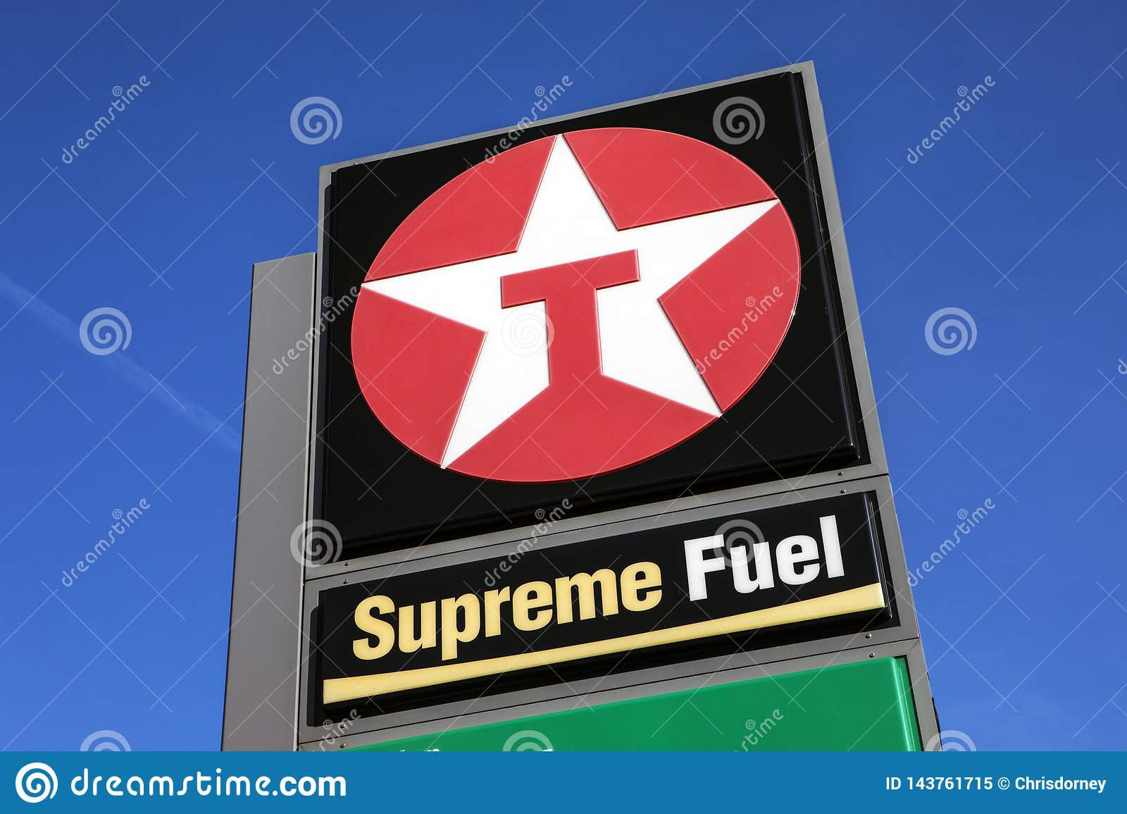Texaco Petrol Station editorial image  Image of prices