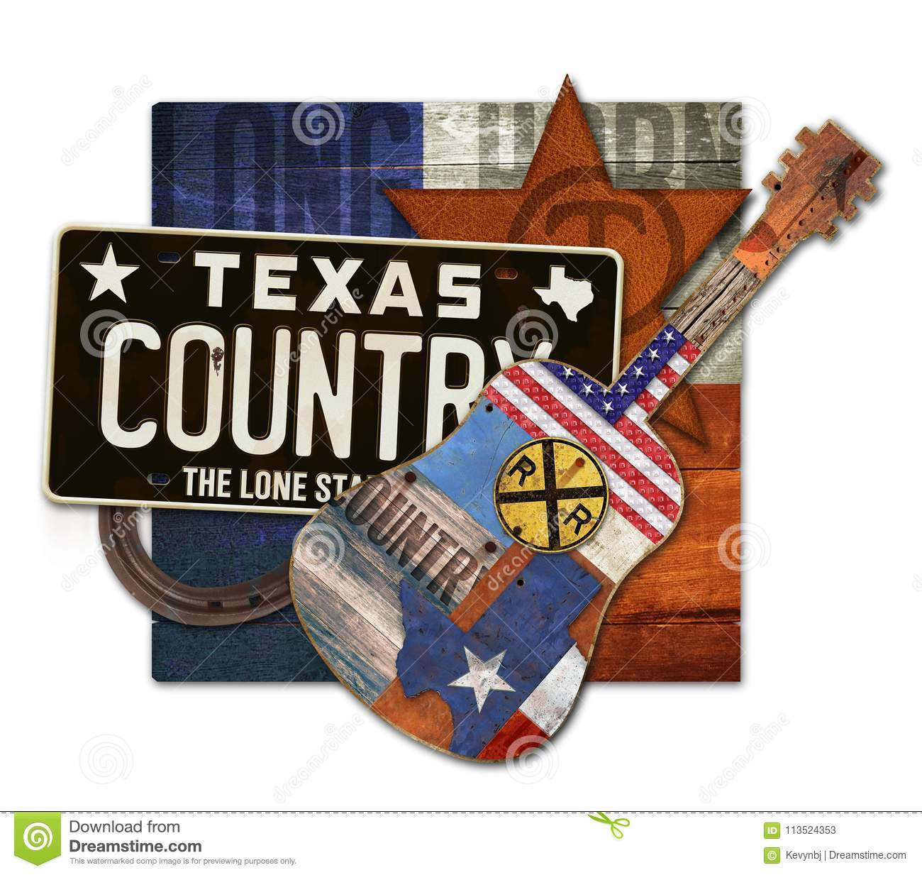 Texas Country Music Art Piece