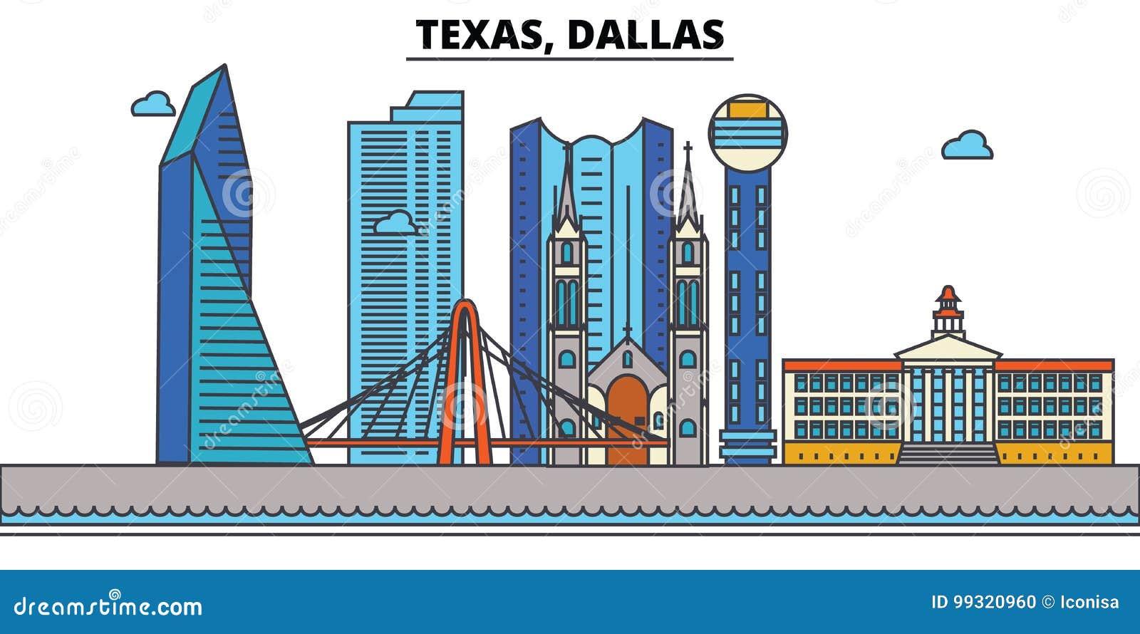 Texas, Dallas De Horizon van de stad