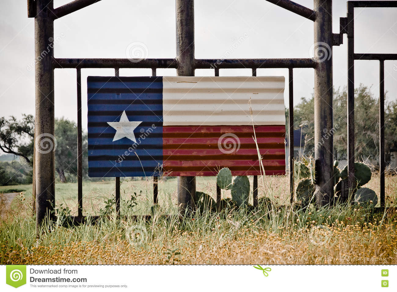 Texas Flag Art Stock Photo Image Of Gate Entrance