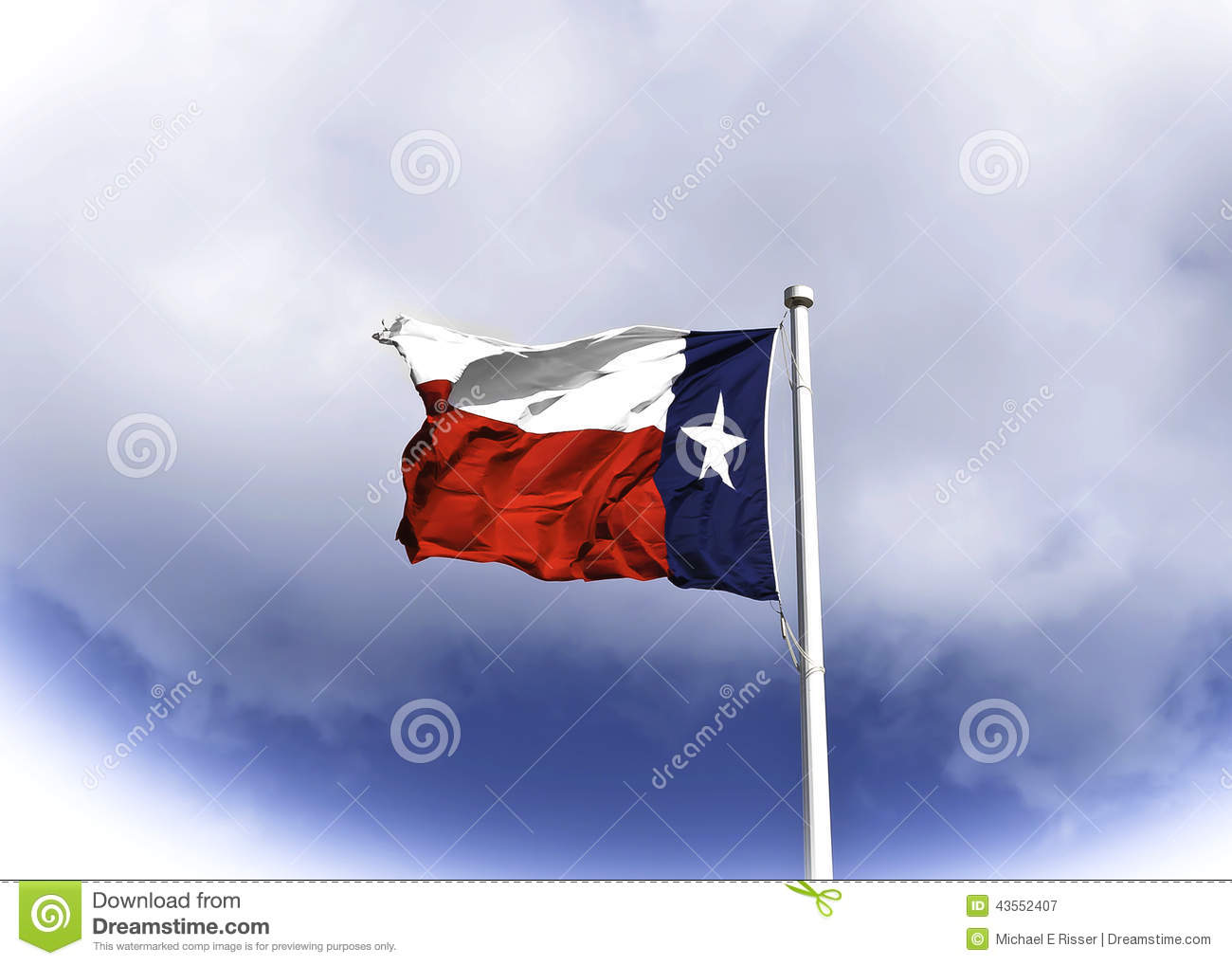 Texas Flag blowing in the Wind