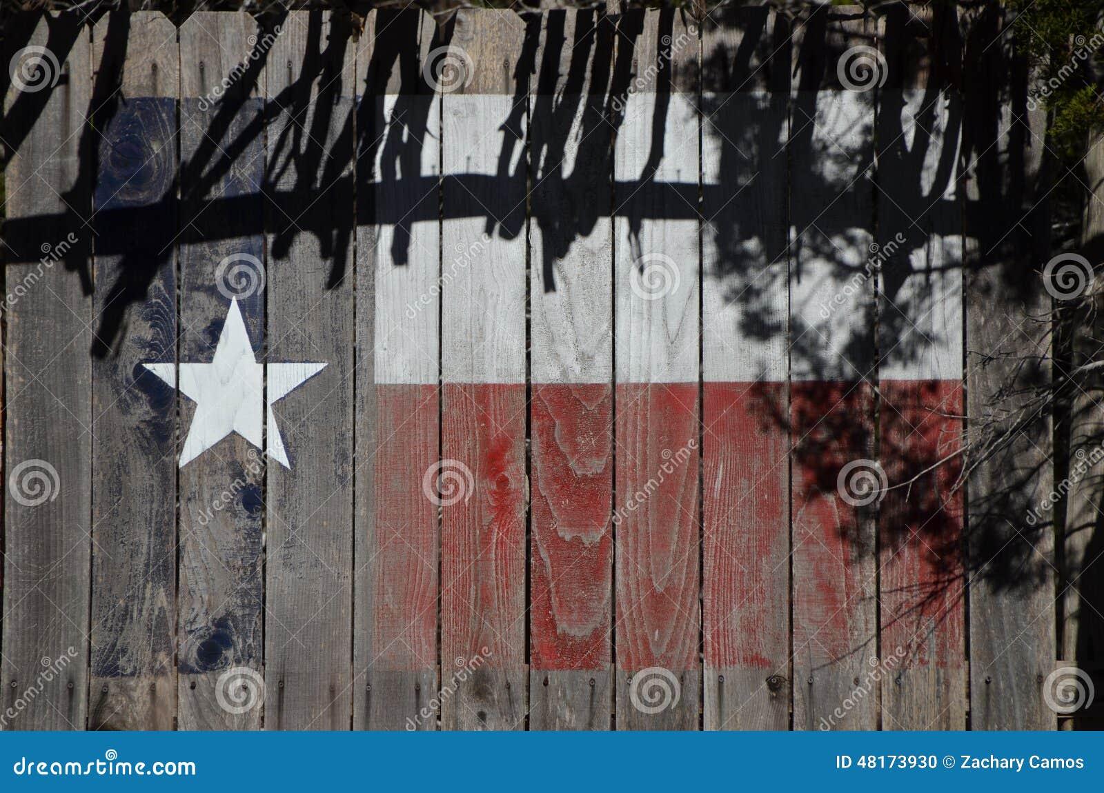 Texas Flag on Cedar Planks