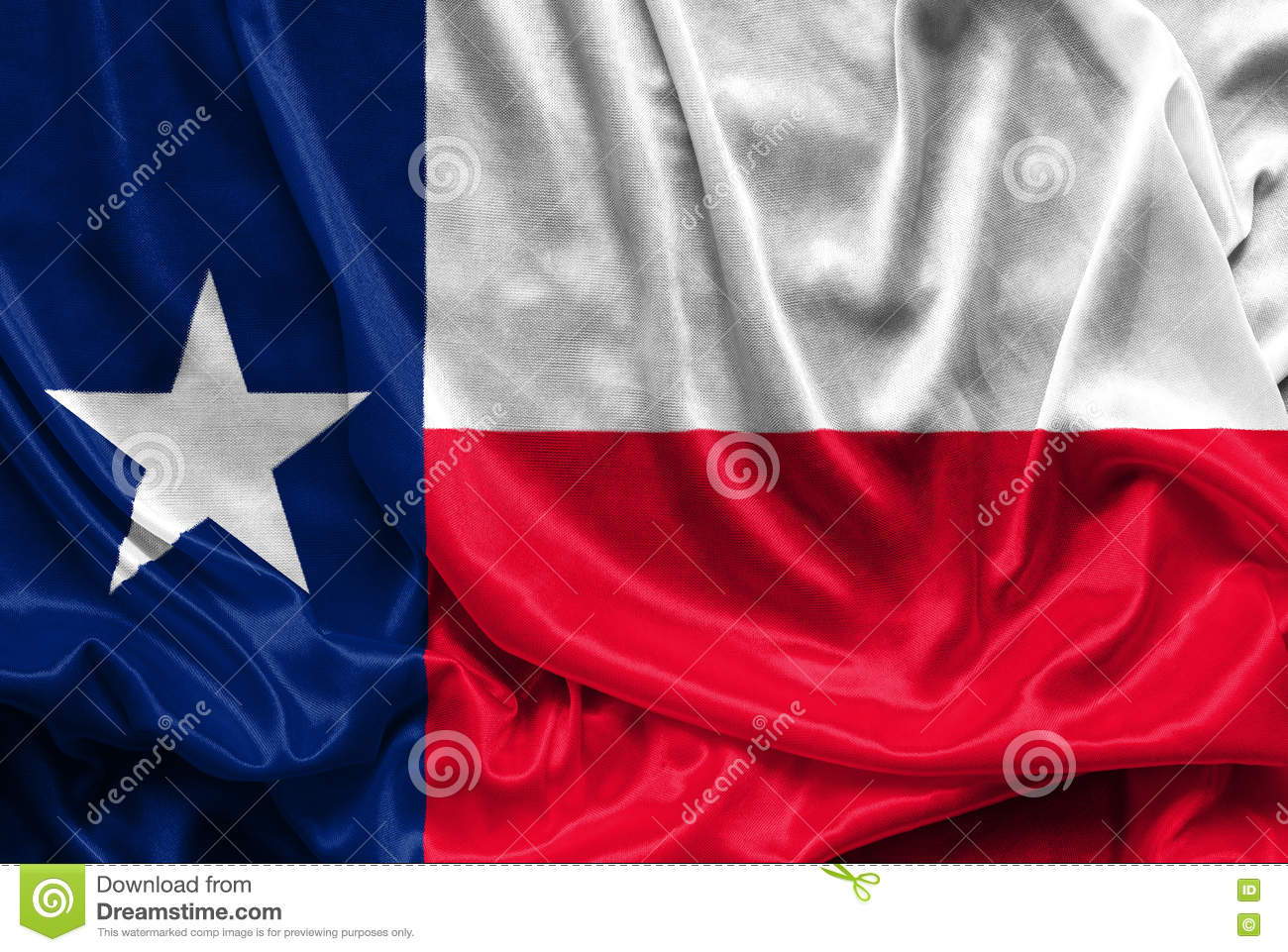 Texas Flag - Crumpled fabric background, wallpapers