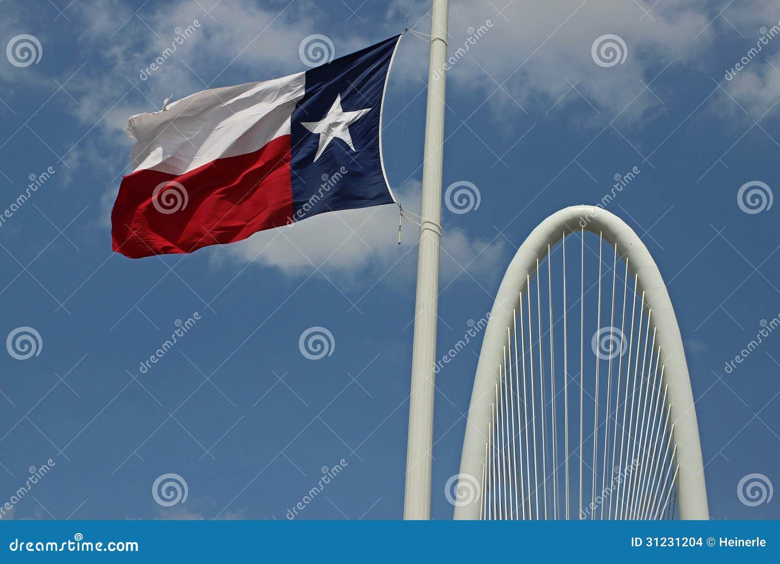 Texas Flag fluttering