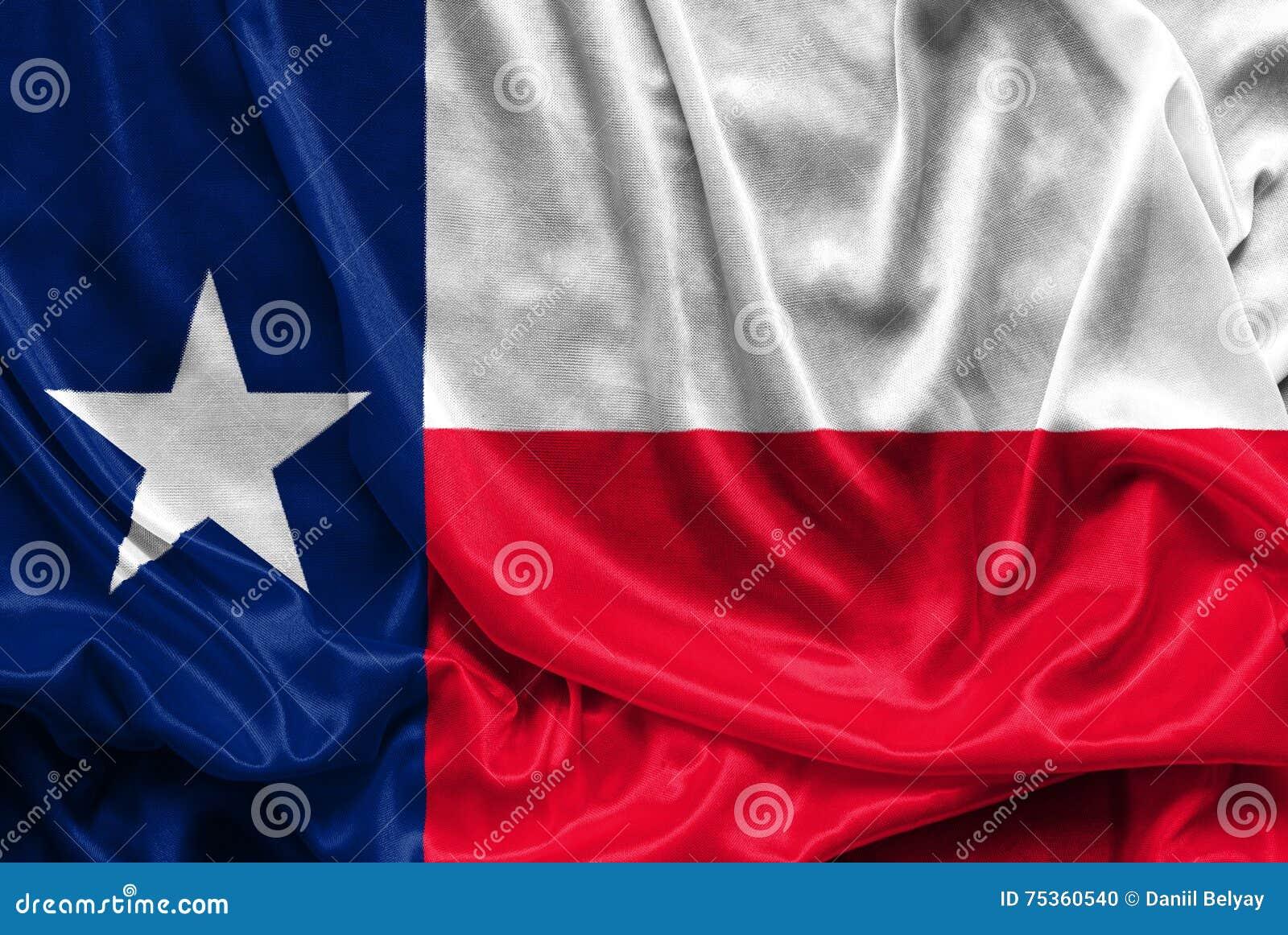 Texas Flag - Verfrommelde stoffenachtergrond, behang