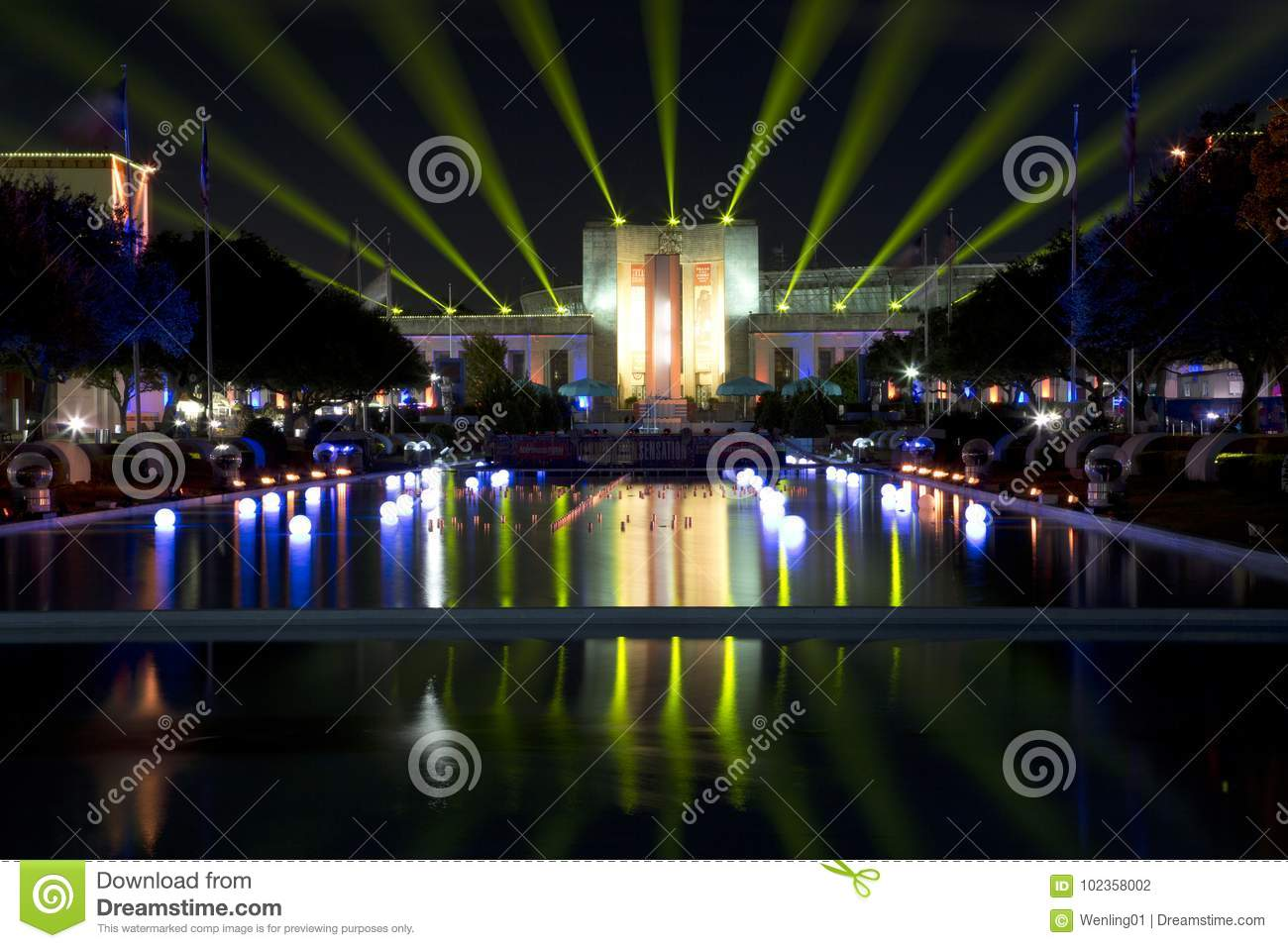 Download Nice Texas Hall Of State And Esplanade Lit Up Editorial  Photography   Image Of Esplanade
