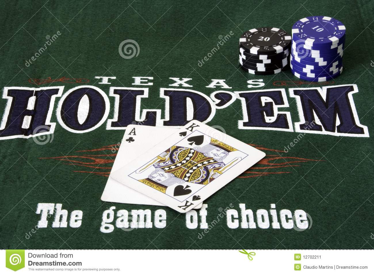 Texas Hold Em Poker Stock Image - Image: 12702211