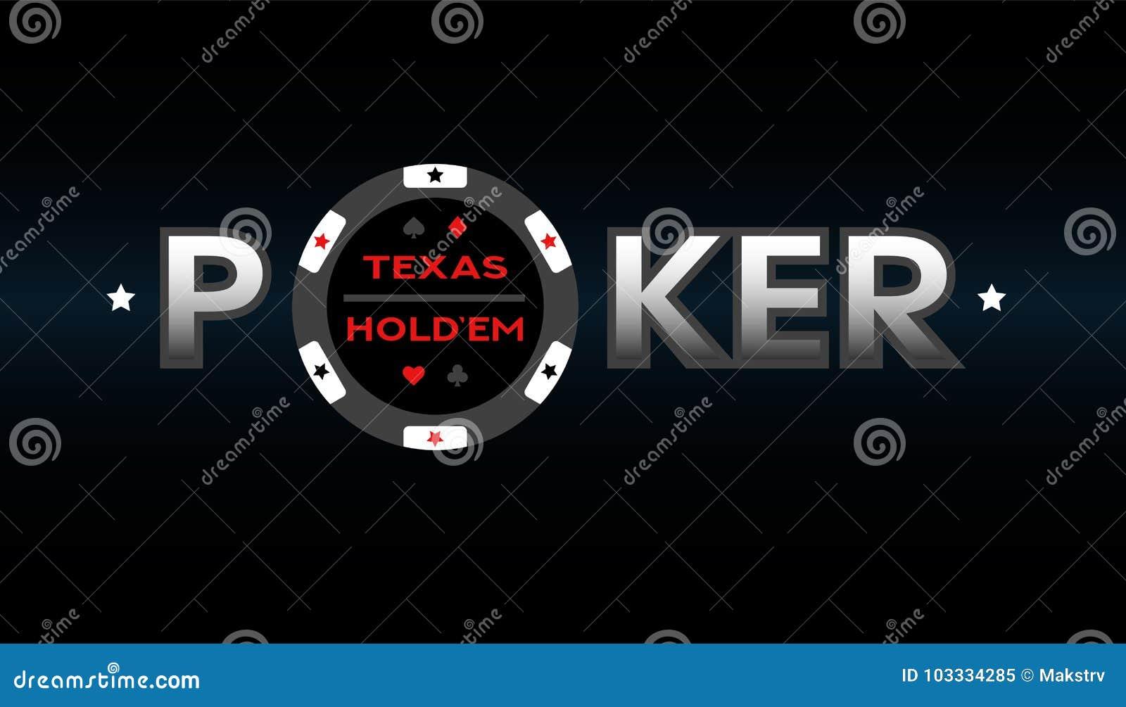 Texas Holdem Poker Vector Illustration Stock Vector Illustration Of Luck Chip 103334285