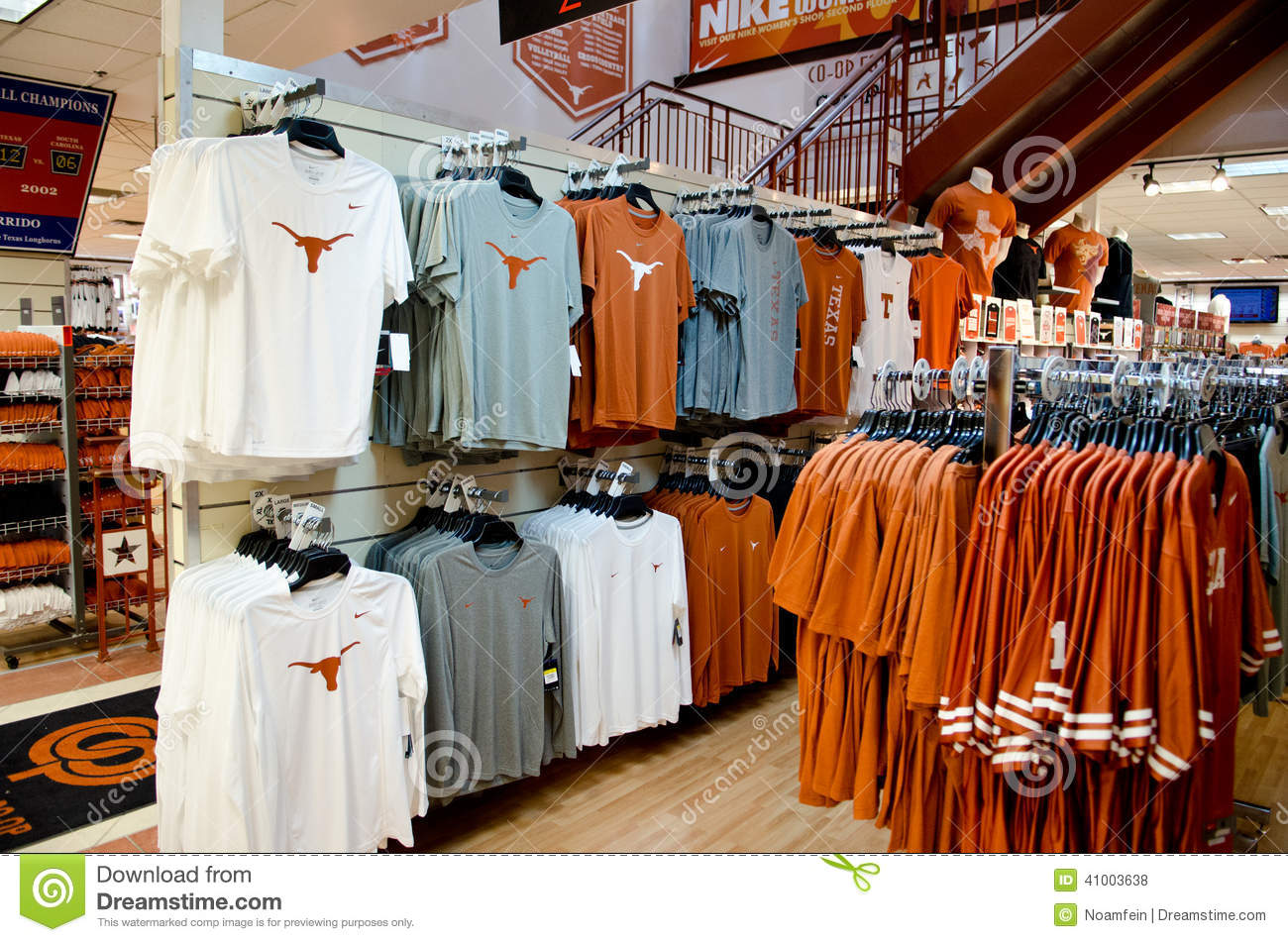 Shirts Of Texas Longhorns In A Store Editorial Stock Photo - Image ...