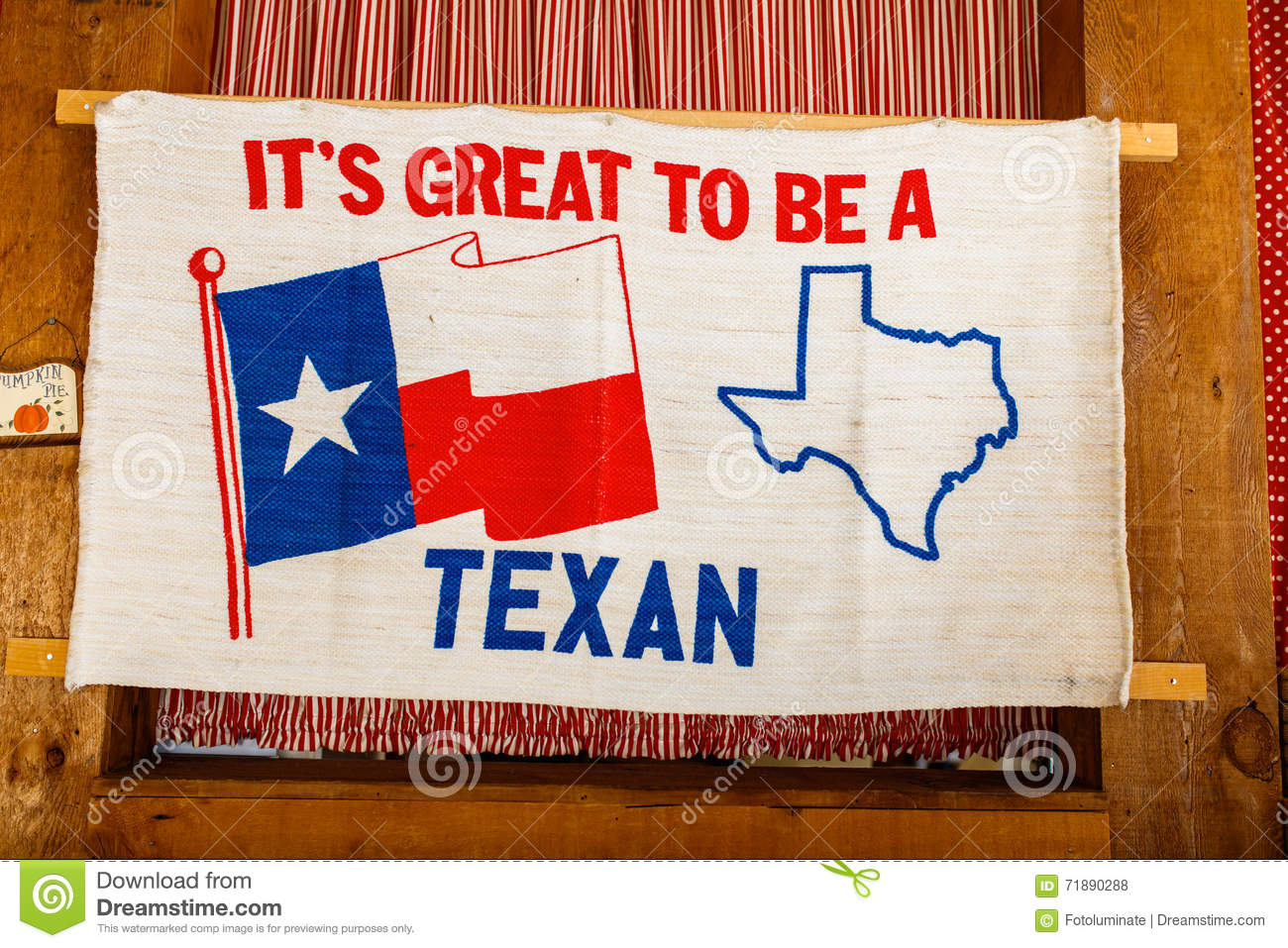 Texas Pride Sign stock photo. Image of flag, great, cloth - 71890288