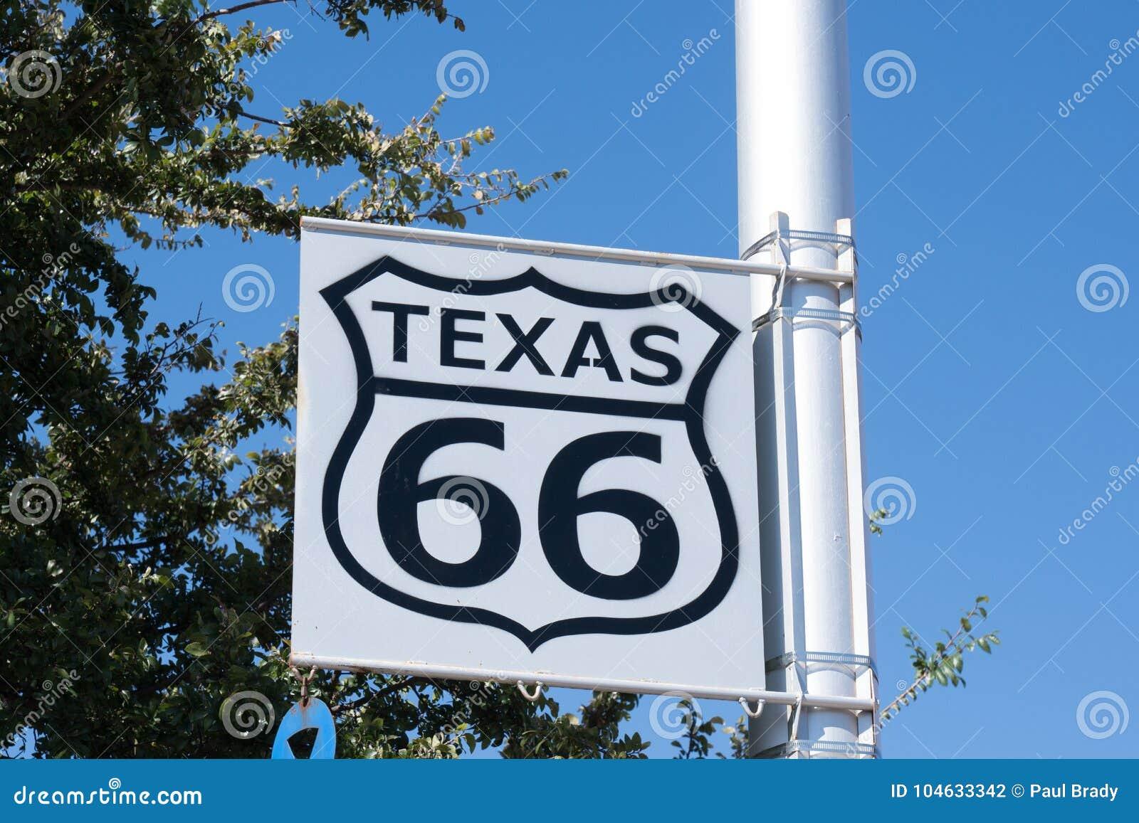Download Texas Route 66 Teken redactionele fotografie. Afbeelding bestaande uit achtergrond - 104633342