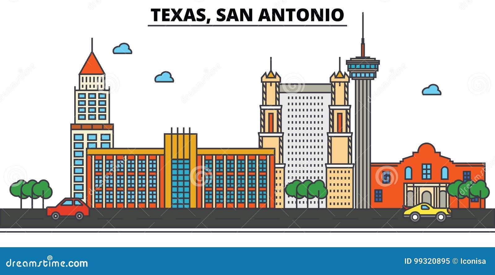 Texas, San Antonio Skyline da cidade