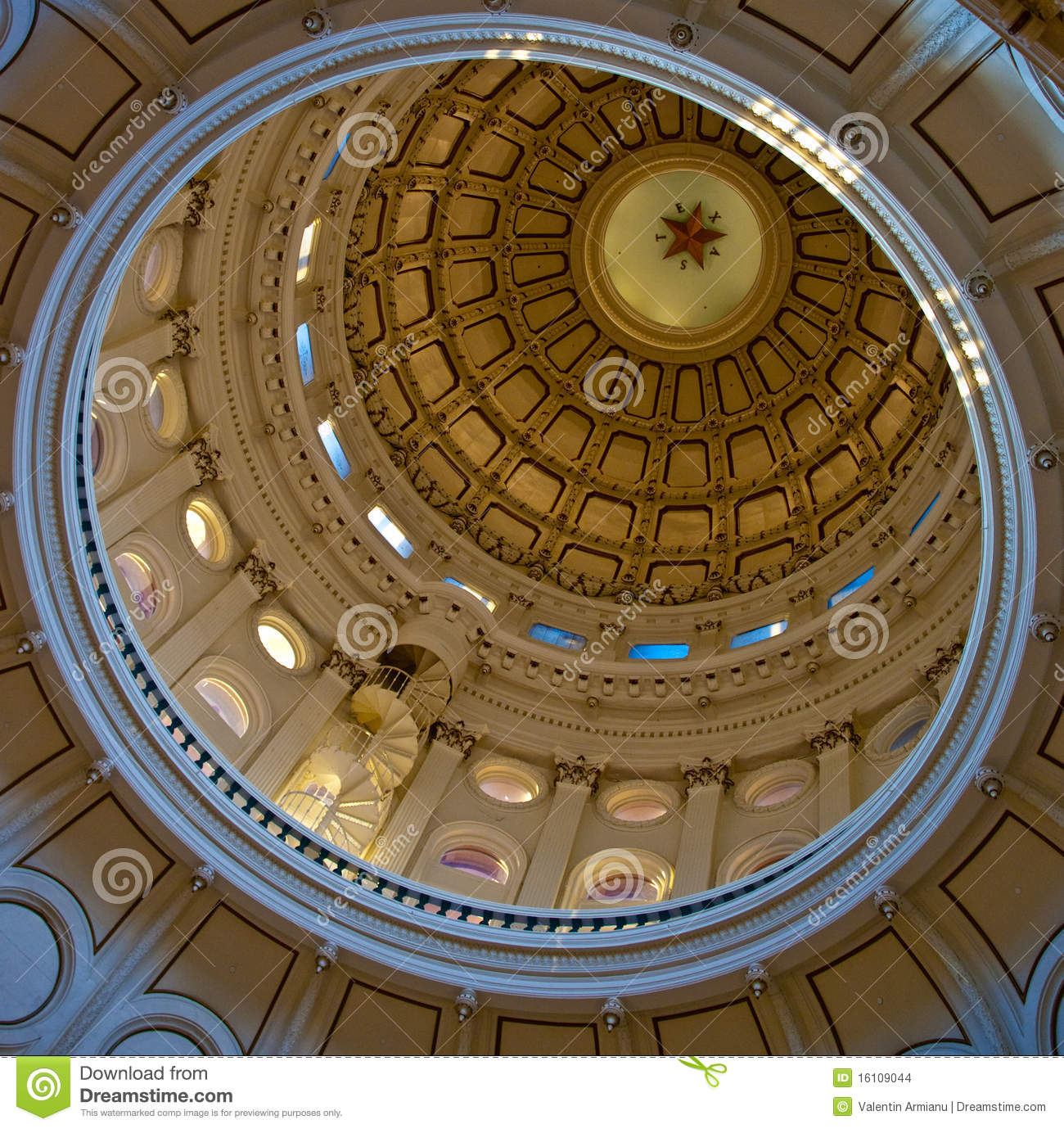 Texas State Capitol dome (inside)