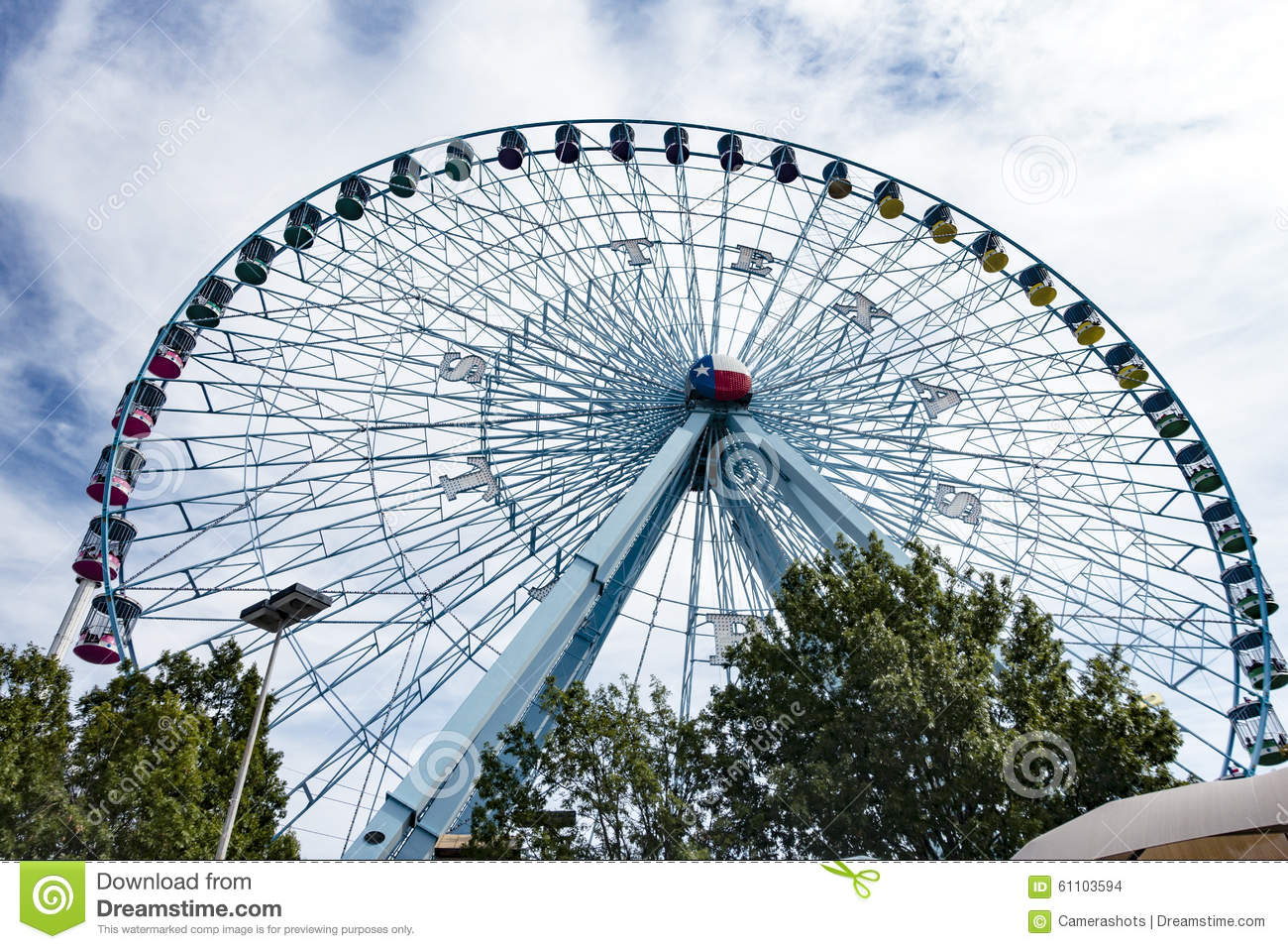 The iconic Texas Star ferris wheel at the State Fair of Texas