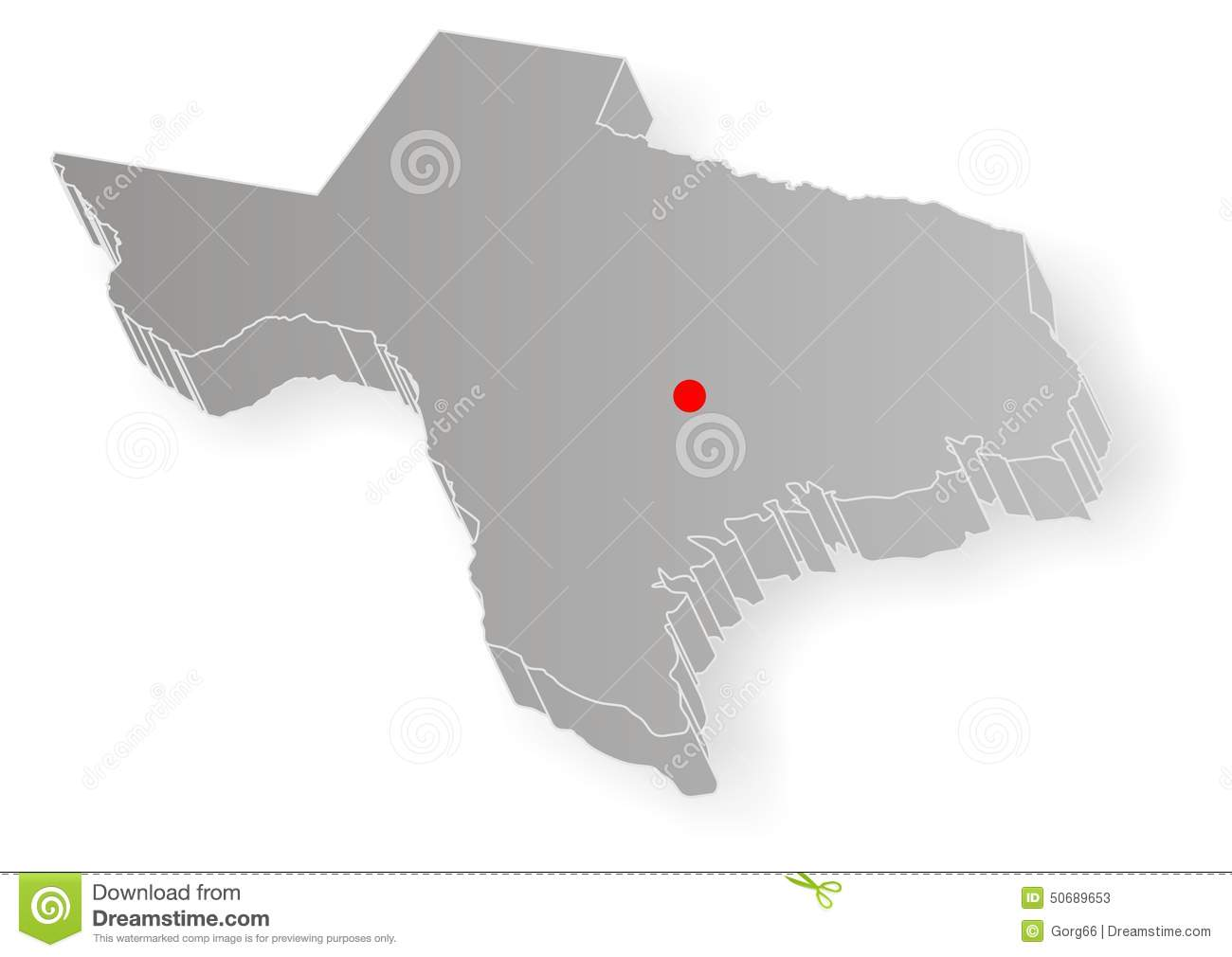 Texas State Map Stock Vector - Image: 50689653