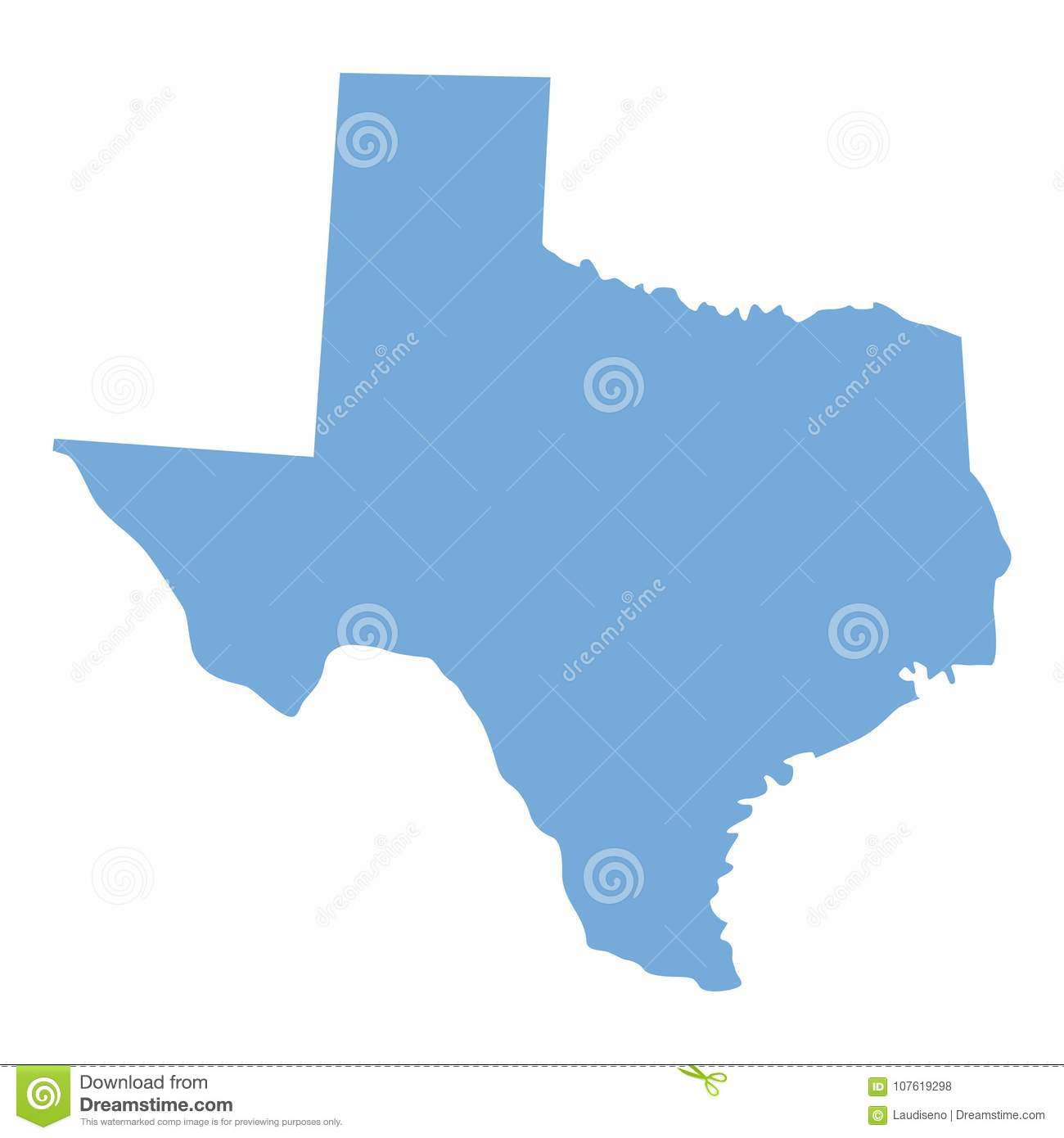 Texas State map stock vector. Illustration of national ...