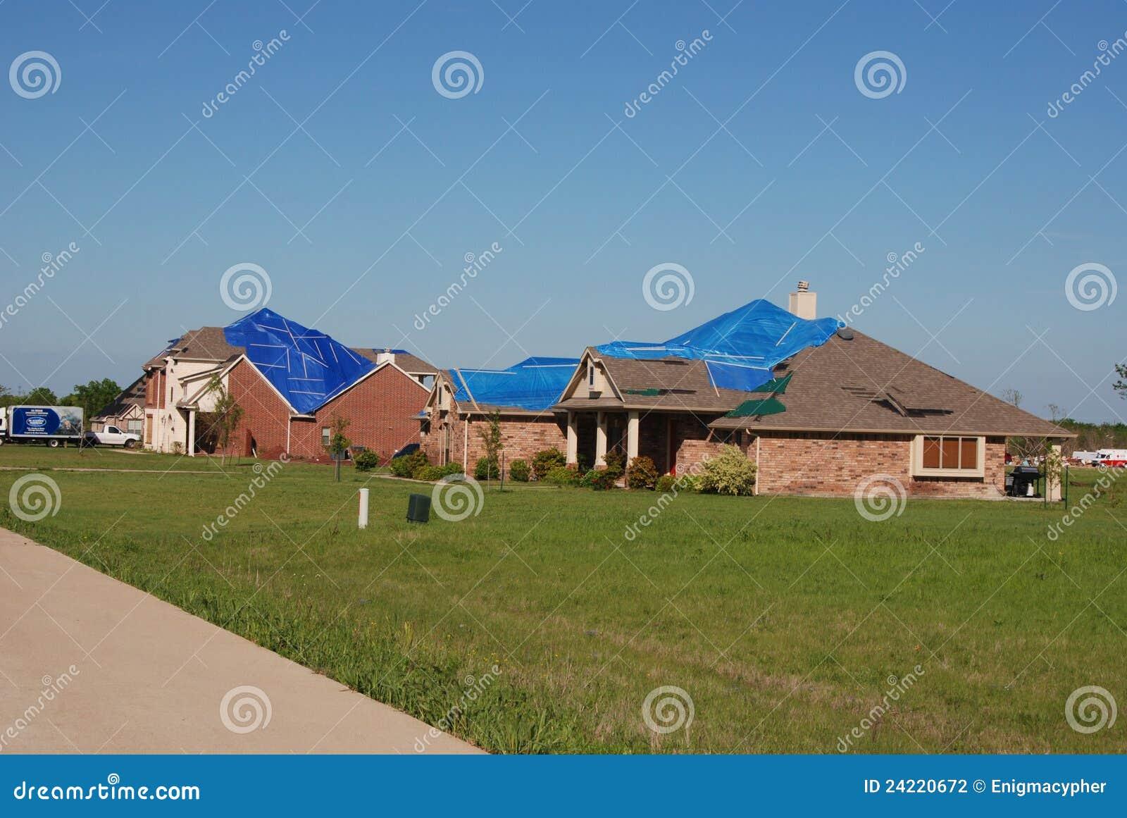 Texas Tornado - Roof Damage