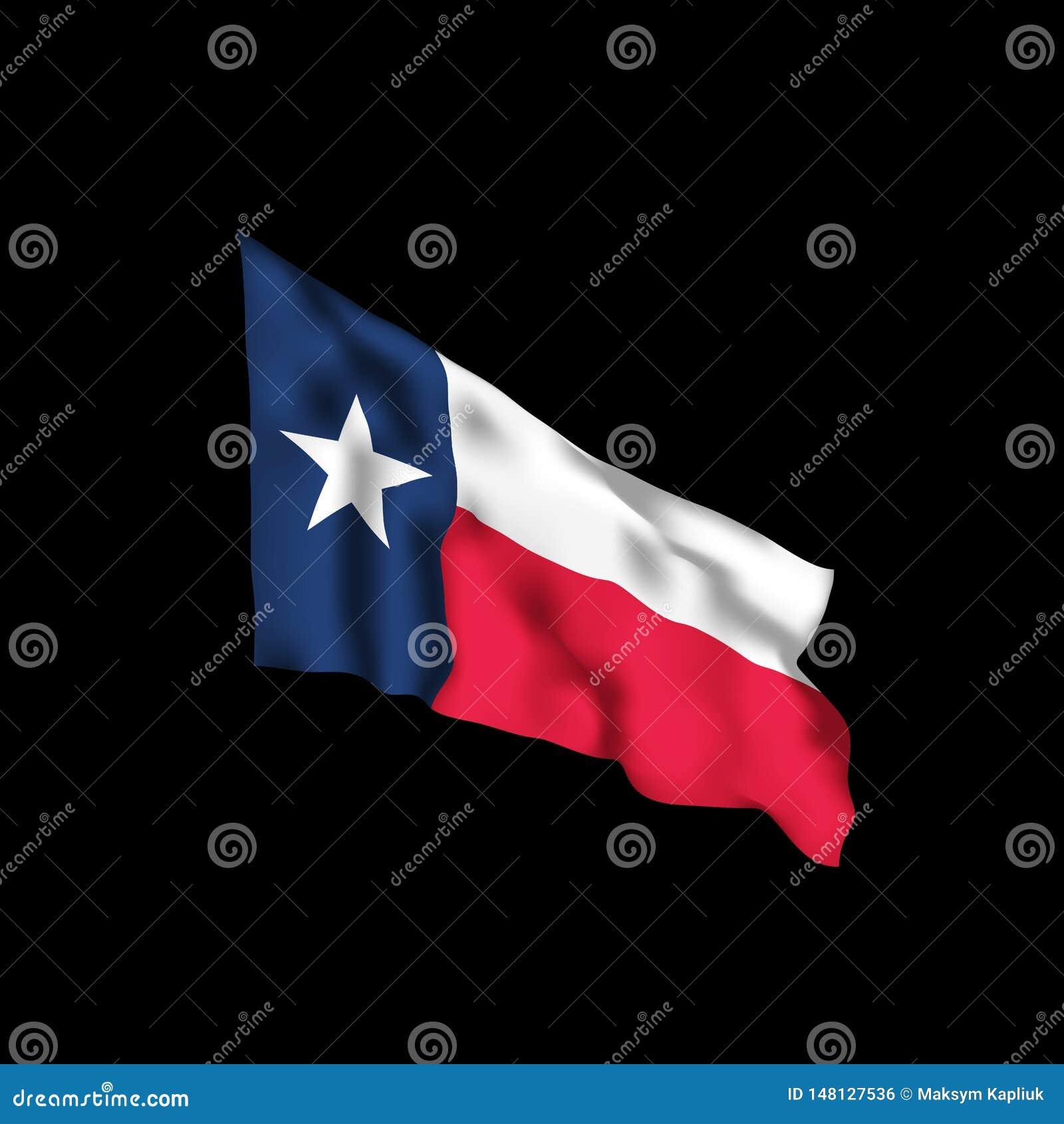 Texas Waving Flag Ilustra??o do vetor