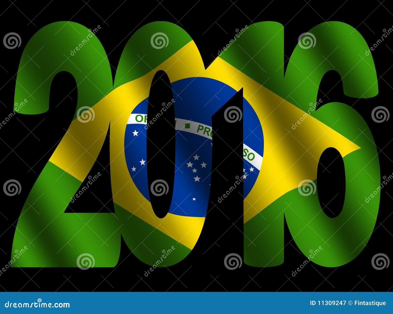 Text 2016 mit brasilianischer Markierungsfahne