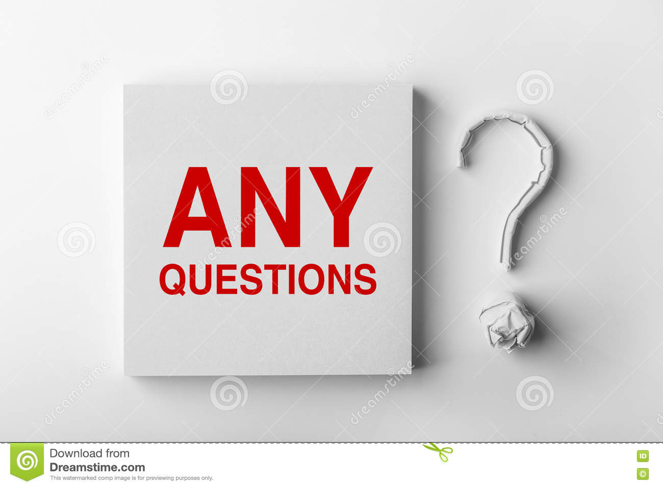 Text Any Questions and Question Mark