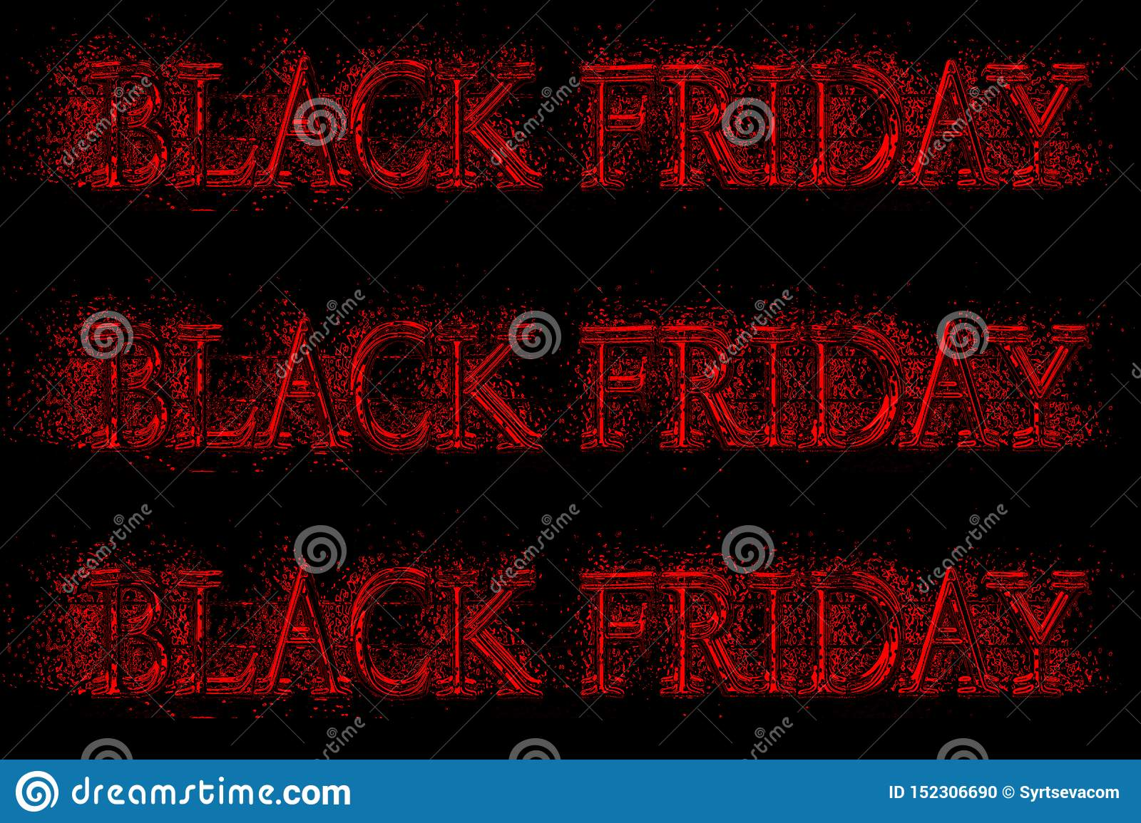Text black friday close up on black background, template for sales and discounts,
