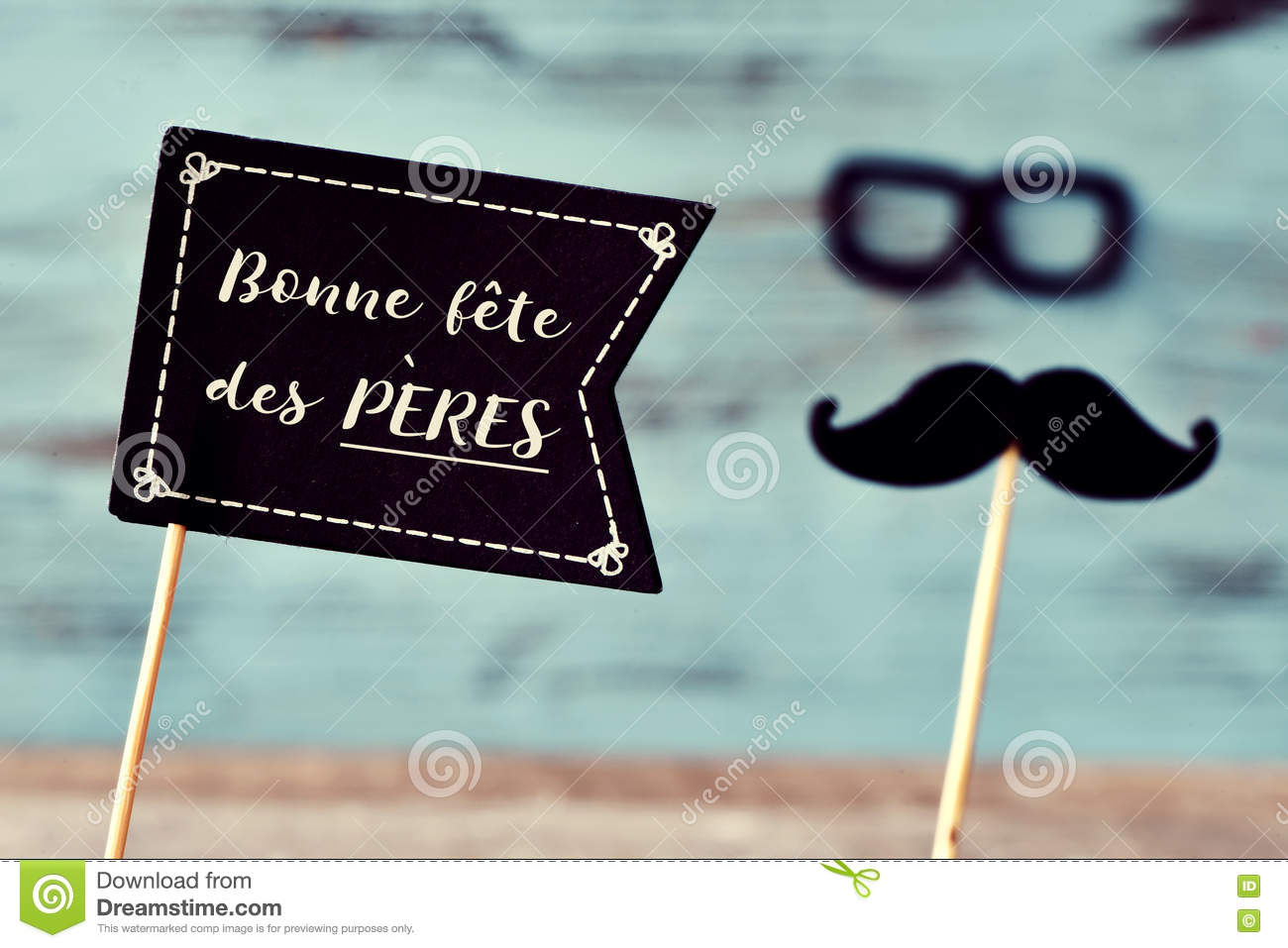 Text bonne fete des peres, happy fathers day in french