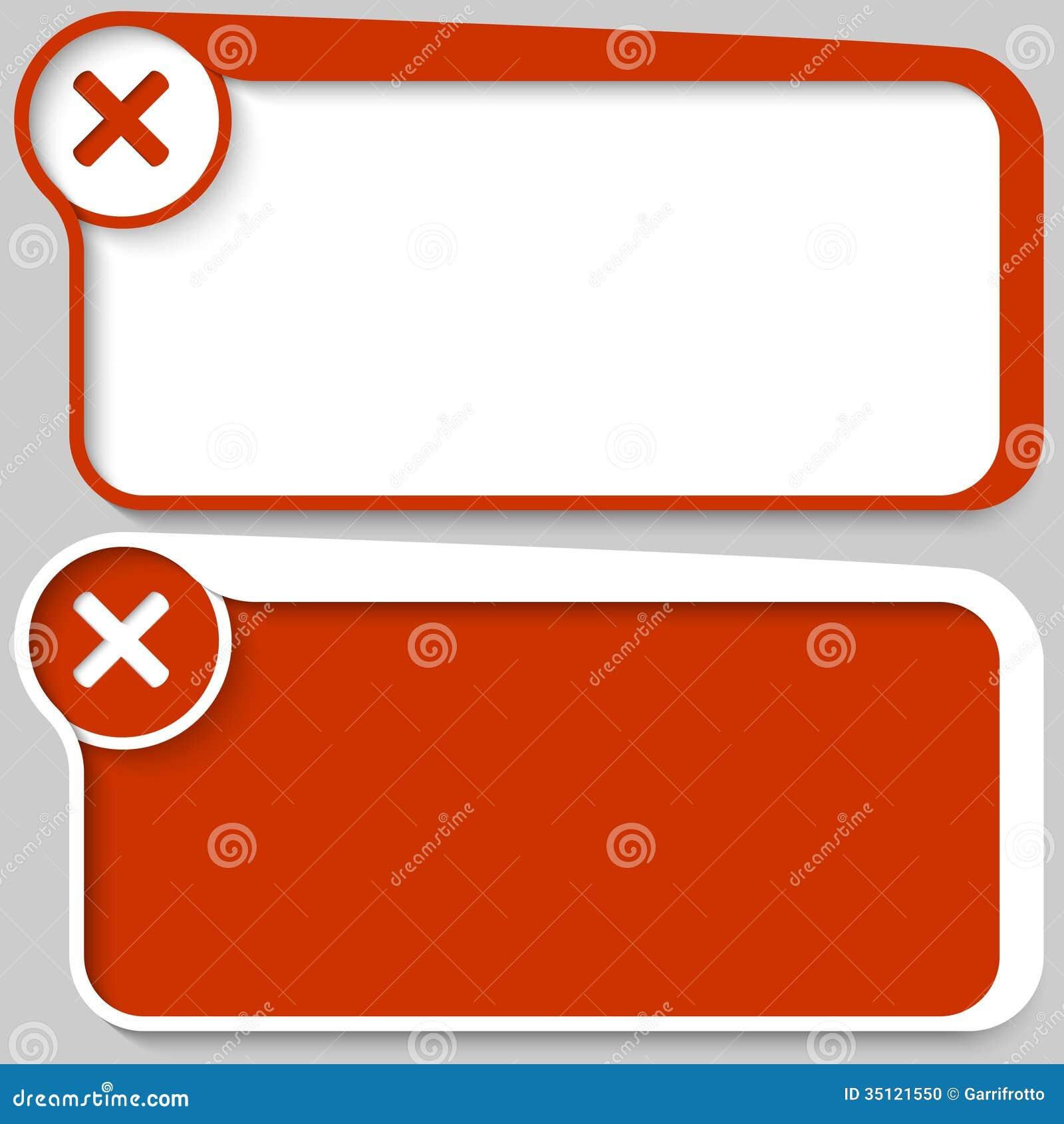 Text Box And Ban Mark Stock Photo - Image: 35121550