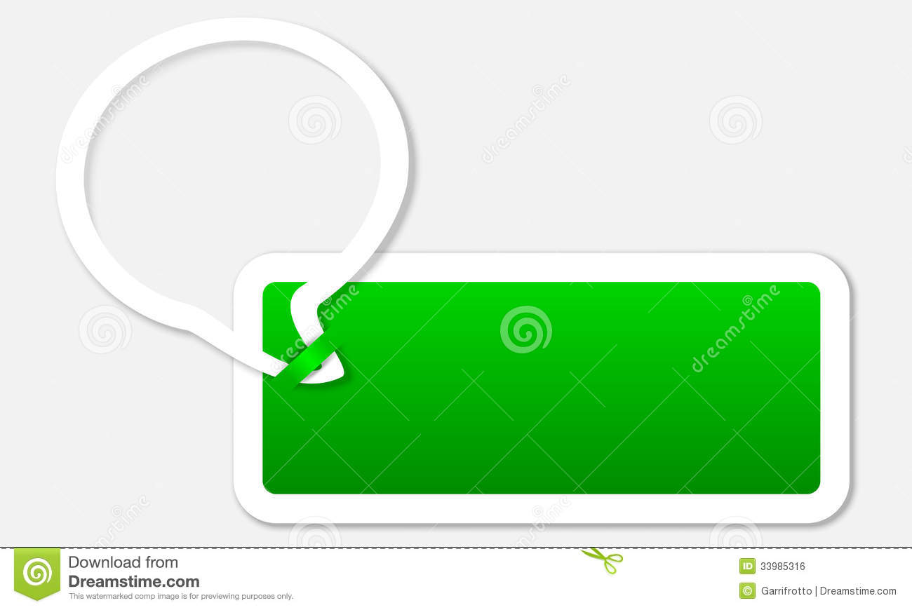 Text Box With Bubble Royalty Free Stock Image Image