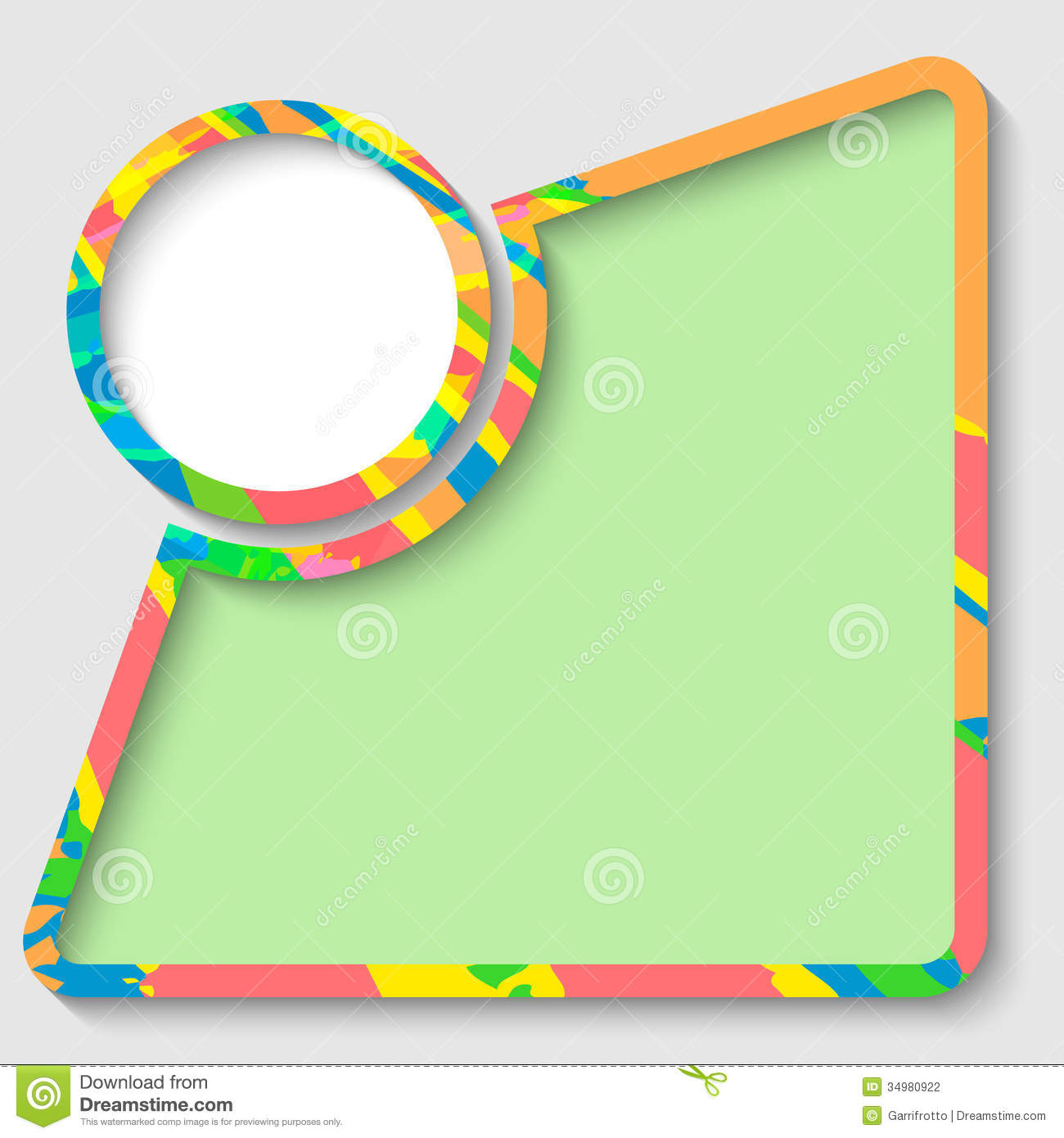 Text box and colored frame stock vector. Illustration of ...