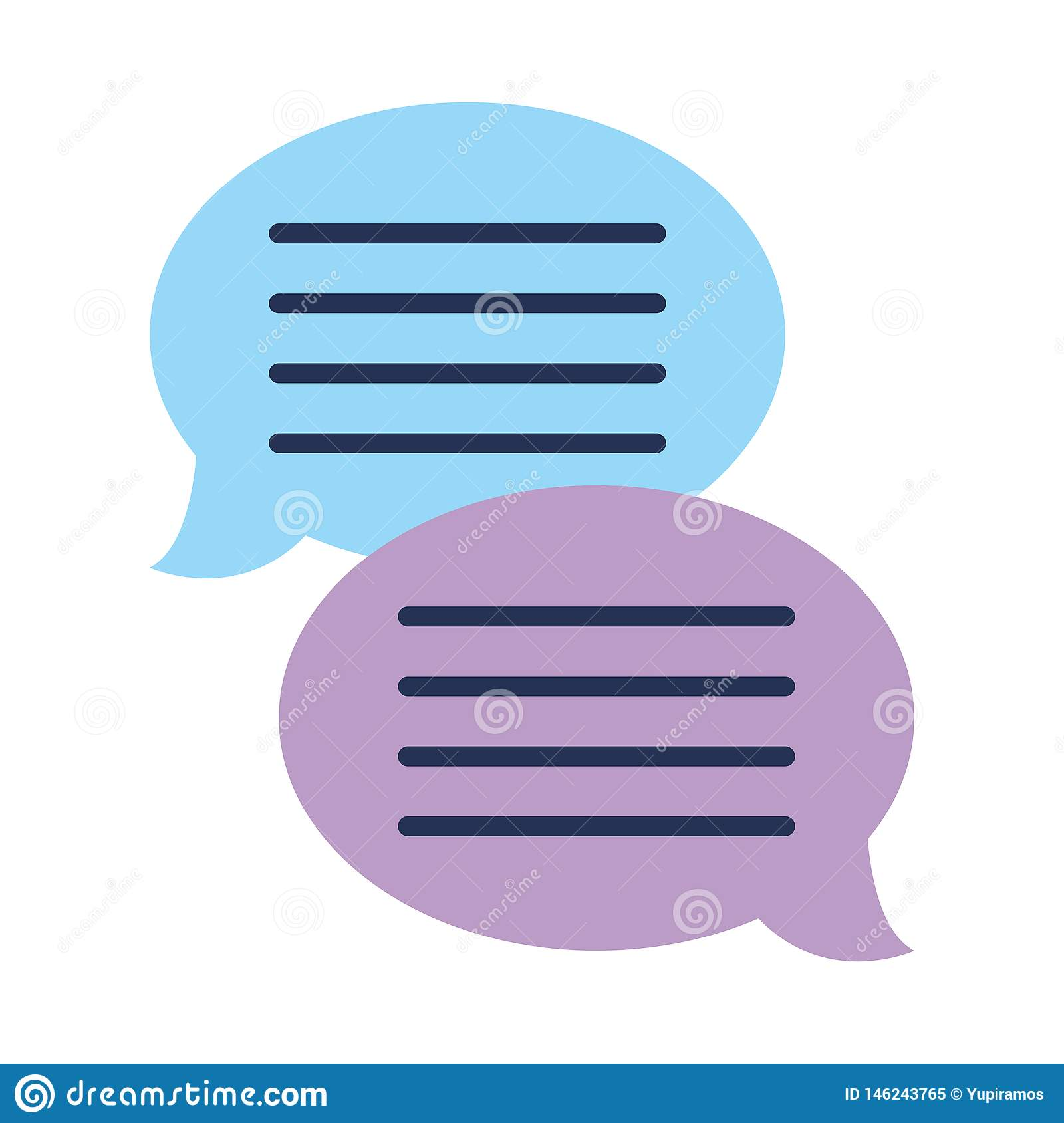 Text bubble chat app stock vector  Illustration of blue